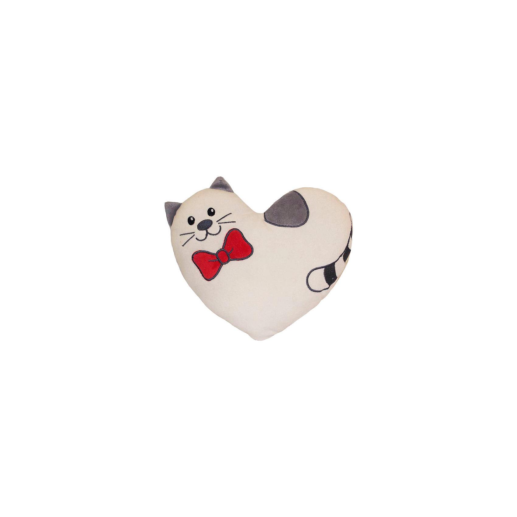 Подушка-валентинка Тимур 25 см, GulliverОчаровательная хвостатая валентинка приведет в восторг и детей, и взрослых, ведь она такая красивая, яркая и приятная на ощупь! Валентинка в виде милого кота Тимура станет отличной игрушкой или же займёт почетное место на диване или кресле в виде мягкой и удобной подушечки.<br><br>Дополнительная информация:<br><br>- Материал: искусственный мех, плюш, синтепон.<br>- Размер: 25 см. <br><br>Подушку-валентинку, Тимур 25 см, Gulliver можно купить в нашем магазине.<br><br>Ширина мм: 70<br>Глубина мм: 280<br>Высота мм: 250<br>Вес г: 136<br>Возраст от месяцев: 36<br>Возраст до месяцев: 84<br>Пол: Унисекс<br>Возраст: Детский<br>SKU: 4533894