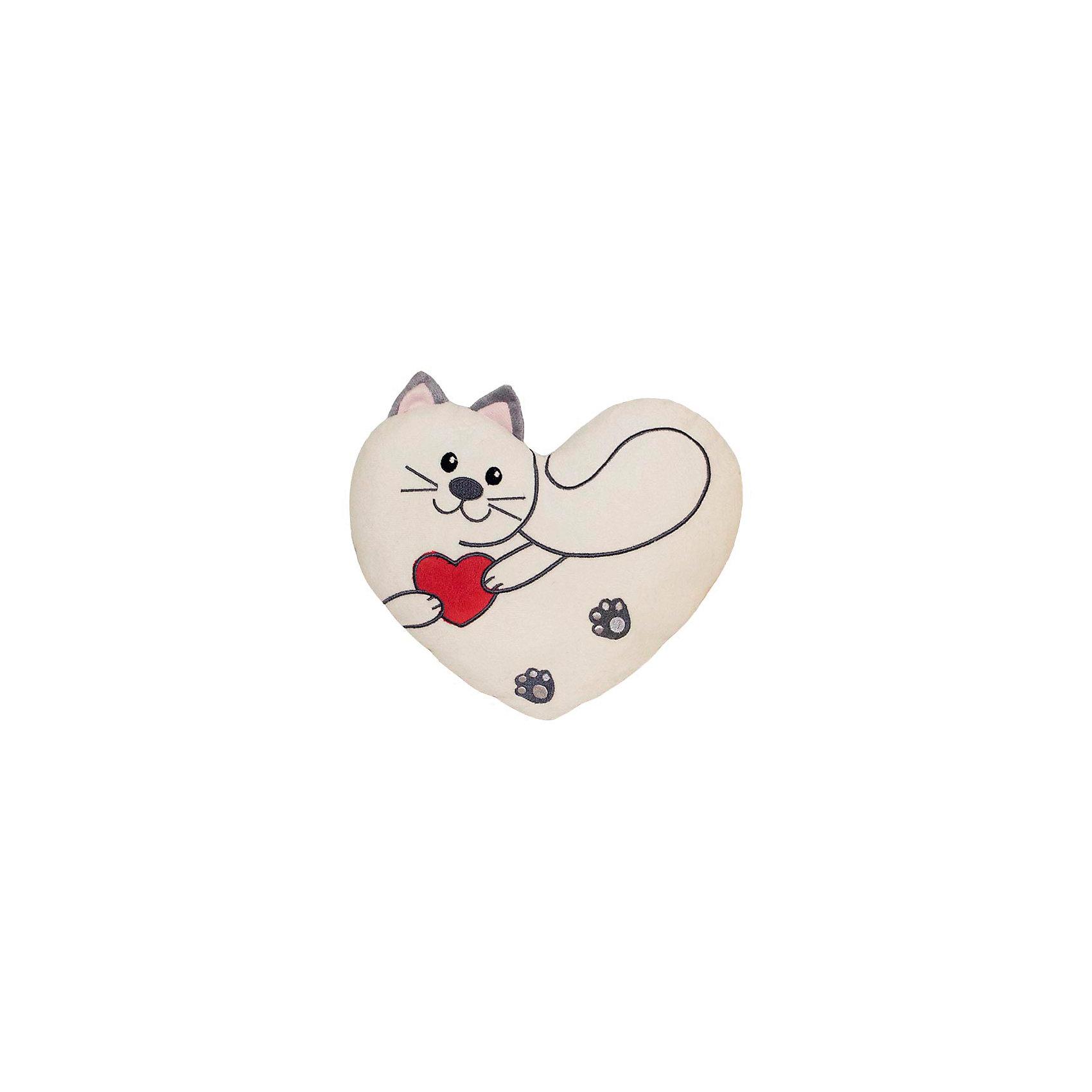 Подушка-валентинка Снежок 25 см, Gulliver