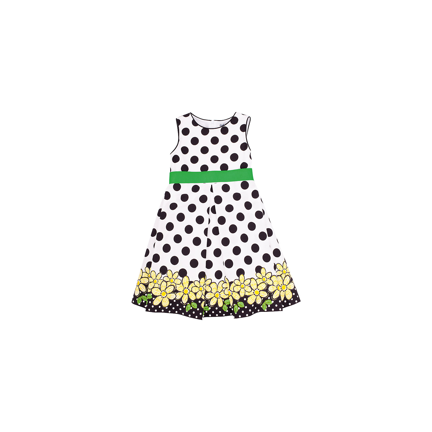 Платье для девочки GulliverОх уж, эти модницы… Их летний гардероб пестрит нарядами, но разве можно пройти мимо нового платья? Красивое платье для девочки с ярким оригинальным рисунком прекрасно подойдет и на каждый день, и на выход. Выполненное из 100% хлопка, платье подарит комфорт и отличное настроение.<br>Состав:<br>верх:                        100% хлопок;       подкл:                    100% хлопок<br><br>Ширина мм: 236<br>Глубина мм: 16<br>Высота мм: 184<br>Вес г: 177<br>Цвет: белый<br>Возраст от месяцев: 24<br>Возраст до месяцев: 36<br>Пол: Женский<br>Возраст: Детский<br>Размер: 98,104,110,122,116<br>SKU: 4534235