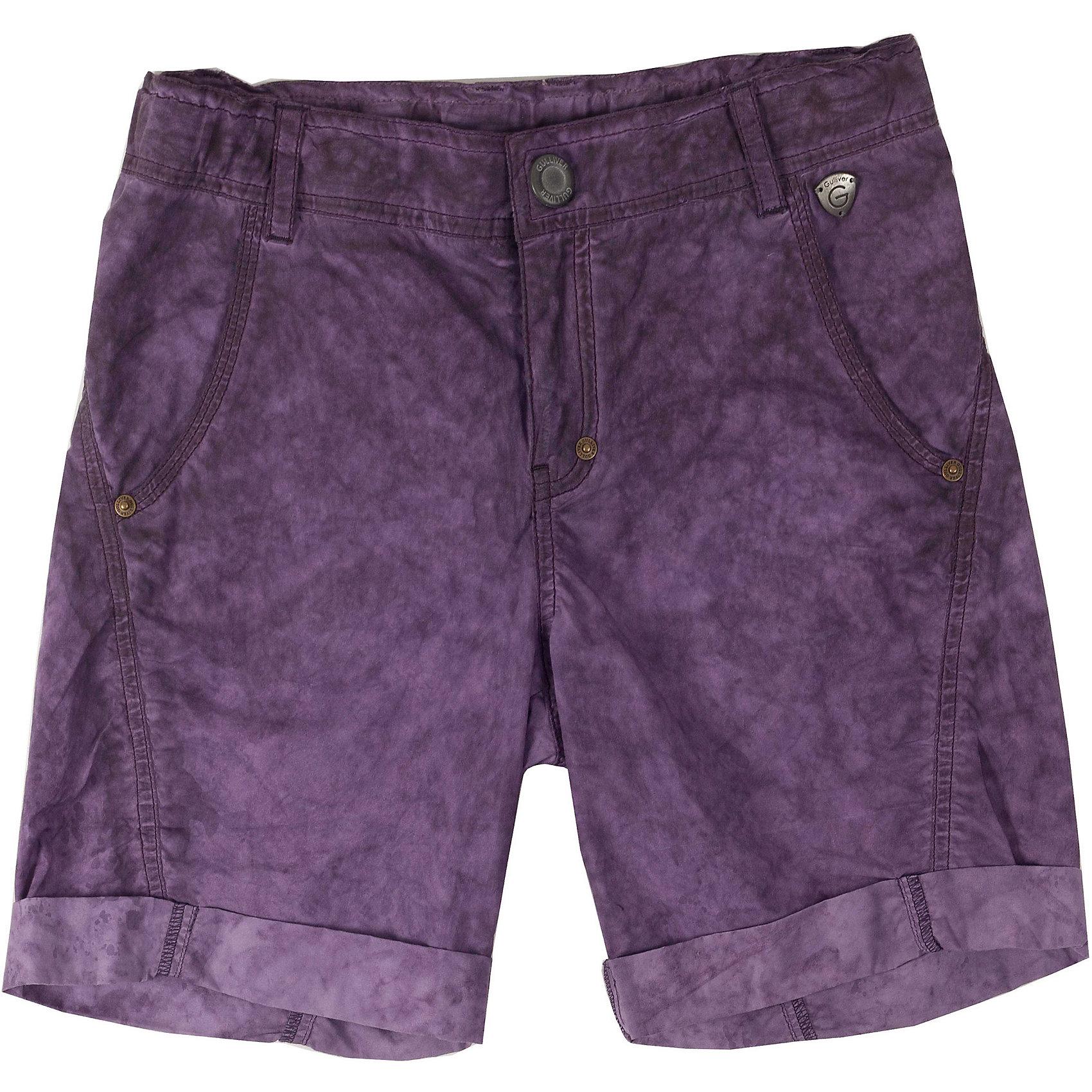 Шорты для мальчика GulliverЦветные шорты для мальчика - хит сезона Весна-Лето 2016. Модный цвет, специальная варка изделия, создающая эффект легкой потертости, состаренности изделия, интересный удобный крой делают эту модель незаменимым атрибутом прогулочного гардероба ребенка. Вы хотите купить стильные комфортные шорты на каждый день для лагеря или дачи? Модель, выполненная из мягкого цветного текстиля - оптимальное решение для практичного летнего гардероба стильного активного мальчика.<br>Состав:<br>100% хлопок<br><br>Ширина мм: 191<br>Глубина мм: 10<br>Высота мм: 175<br>Вес г: 273<br>Цвет: фиолетовый<br>Возраст от месяцев: 108<br>Возраст до месяцев: 120<br>Пол: Мужской<br>Возраст: Детский<br>Размер: 140,152,128,146,158,134<br>SKU: 4534325
