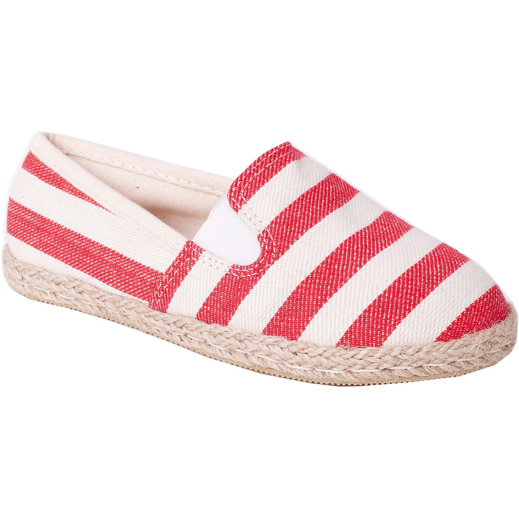 Слипоны для девочки GulliverСлипоны<br>Стильные эспадрильи могут стать отличной заменой сланцам или сандалиям: их можно носить целый день во дворе или на пляже, а если нужно, надеть и вечером, с летними джинсами или шортами. Эспадрильи носят исключительно на голую ногу, поэтому материал верха, естественно, хлопок! Сегодня эти мягкие «тапочки» - эспадрильи -  самая популярная модель сезона Весна-Лето 2016!<br>Состав:<br>верх:              100% хлопок;            подкладка:             100% хлопок;                            подошва:                 TPR<br><br>Ширина мм: 227<br>Глубина мм: 145<br>Высота мм: 124<br>Вес г: 325<br>Цвет: разноцветный<br>Возраст от месяцев: 120<br>Возраст до месяцев: 132<br>Пол: Унисекс<br>Возраст: Детский<br>Размер: 34,35,33,31,30,32<br>SKU: 4534453