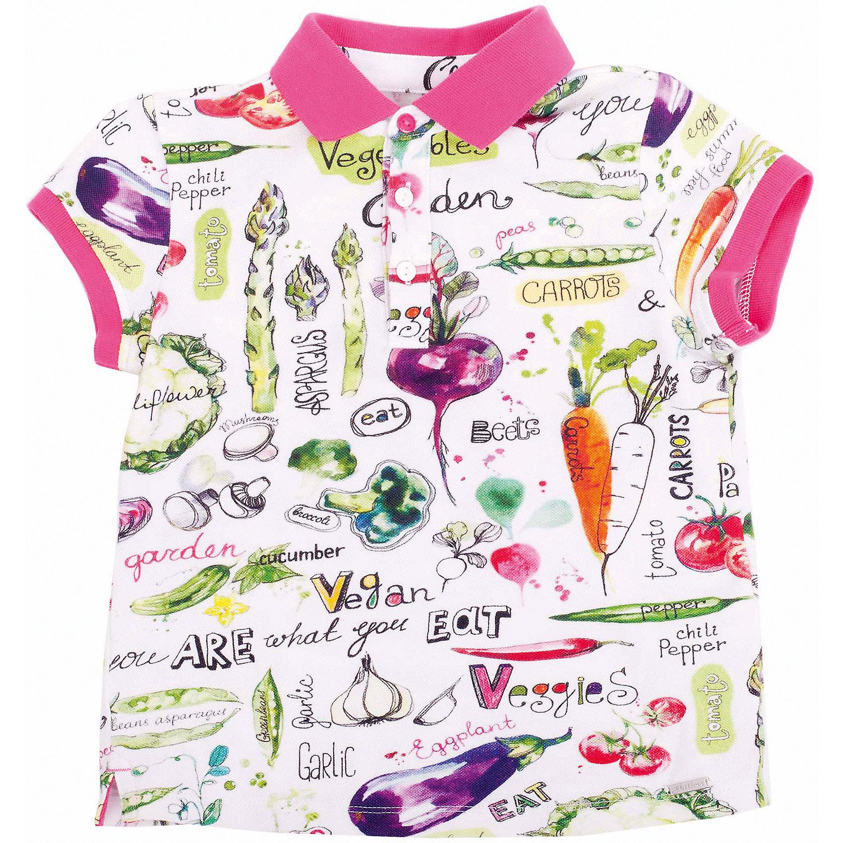 Футболка-поло для девочки GulliverСтильное поло с коротким рукавом – отличное решение для каждого дня лета! Поло для девочки выполнено из пике с модным оригинальным рисунком! Приобретая футболку поло, вы решаете несколько задач - покупаете качественную брендовую вещь, а также добавляете в летний гардероб ребенка яркие индивидуальные черты!<br>Состав:<br>95% хлопок      5% эластан<br><br>Ширина мм: 199<br>Глубина мм: 10<br>Высота мм: 161<br>Вес г: 151<br>Цвет: разноцветный<br>Возраст от месяцев: 48<br>Возраст до месяцев: 60<br>Пол: Женский<br>Возраст: Детский<br>Размер: 110,104,116,98,122<br>SKU: 4534497