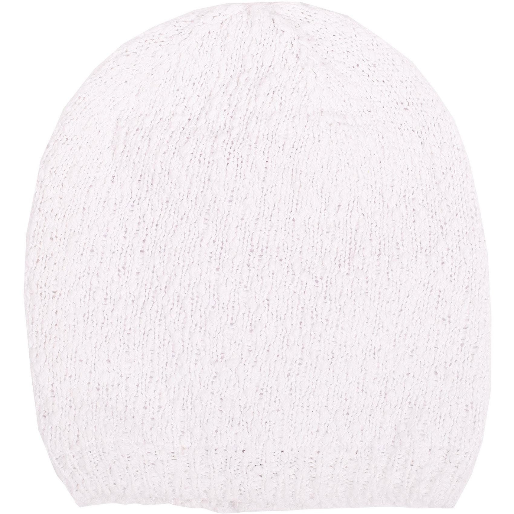 Шапка для девочки GulliverГоловные уборы<br>Модные вязаные шапки весной 2016 вновь обещают быть объемными! Белая шапка красиво завершает образ, делая его новым, свежим, интересным. Вязаная шапка на трикотажной подкладке выполнена из особой пряжи узелковой структуры, придающей изделию индивидуальность. Словом, если вам нужна стильная вязаная шапка для весенней погоды, выбор этой модели абсолютно оправдан!<br>Состав:<br>верх:               100% хлопок; подкладка:           95% хлопок    5% эластан<br><br>Ширина мм: 89<br>Глубина мм: 117<br>Высота мм: 44<br>Вес г: 155<br>Цвет: белый<br>Возраст от месяцев: 24<br>Возраст до месяцев: 36<br>Пол: Женский<br>Возраст: Детский<br>Размер: 50,52<br>SKU: 4534562
