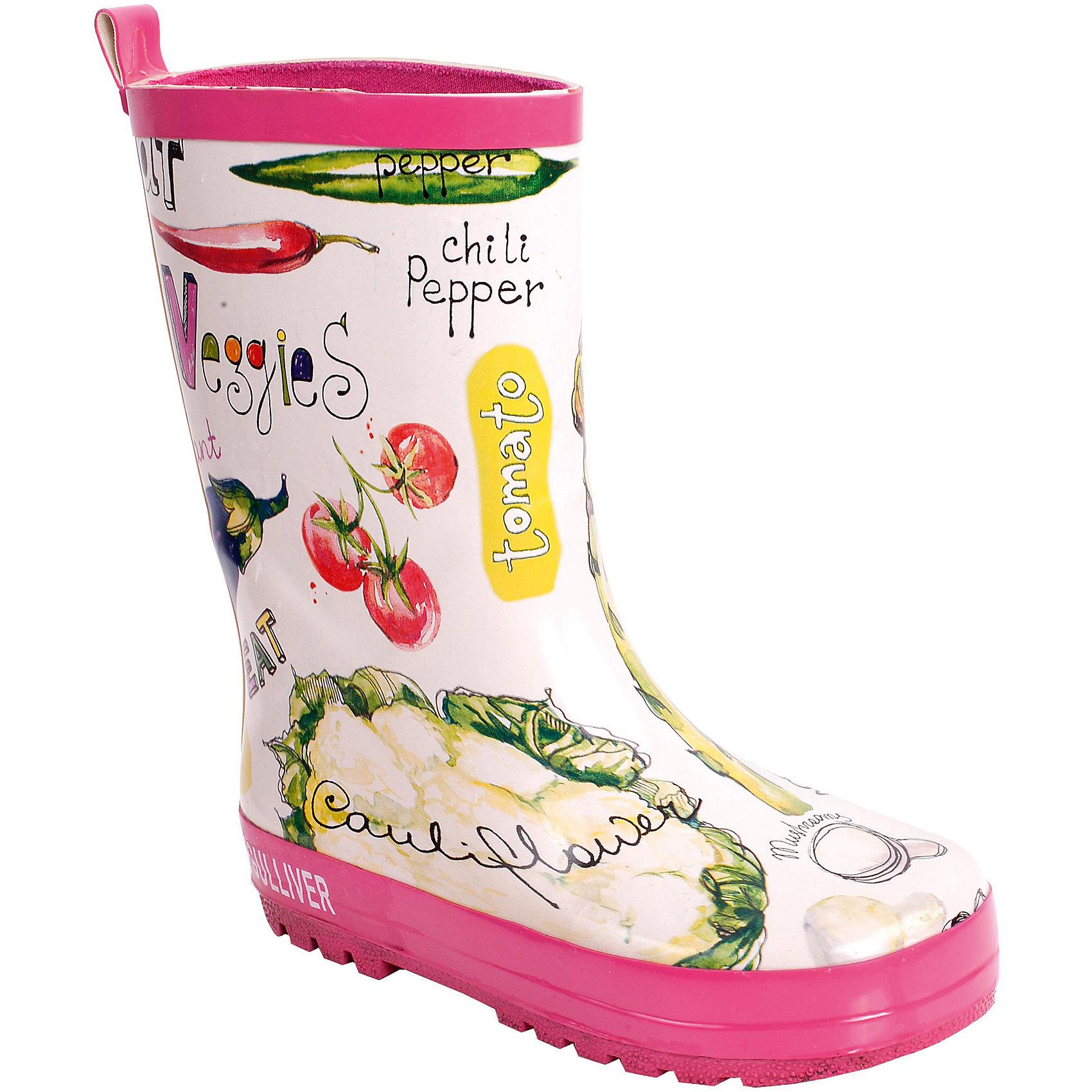 Сапоги резиновые для девочки GulliverНе лишайте ребенка удовольствия от прогулки во время дождя! Ведь только в детстве можно бегать по лужам и радоваться каждой минуте, проведенной на улице! Для этого нужно не очень много! Красивые качественные резиновые сапоги и отличное настроение обеспечено! Резиновые сапоги для девочки, действительно, необходимы! К тому же, резиновые сапоги с ярким красивым рисунком могут стать не только функциональным, но и стильным элементом образа!<br>Состав:<br>верх:                              резина;              подкладка: текстиль;                                   подошва:                              резина<br><br>Ширина мм: 237<br>Глубина мм: 180<br>Высота мм: 152<br>Вес г: 438<br>Цвет: разноцветный<br>Возраст от месяцев: 24<br>Возраст до месяцев: 36<br>Пол: Женский<br>Возраст: Детский<br>Размер: 26,24,27,29,28,25<br>SKU: 4534575