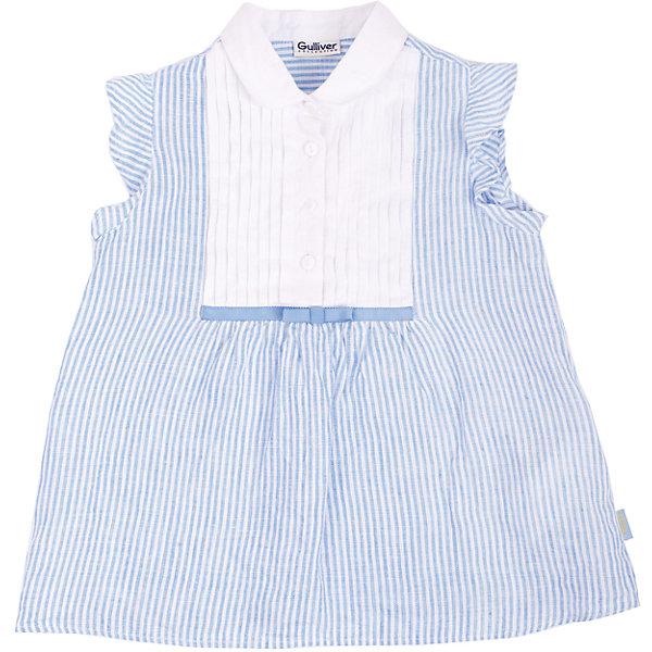 Блузка для девочки GulliverБлузки и рубашки<br>Легкая красивая блузка из льна – замечательный вариант для жаркого лета. Она выглядит нежно и романтично, благодаря деликатной полоске, белоснежной манишке и игривым крылышкам. Стильная блузка - хит сезона Весна/Лето 2016, а значит необходимая вещь в гардеробе юной модницы. В ней, как говорят, и в пир, и в мир! Если вы хотите купить красивую блузку для девочки на все случаи жизни – эта модель станет отличным выбором.<br>Состав:<br>100% лён<br><br>Ширина мм: 186<br>Глубина мм: 87<br>Высота мм: 198<br>Вес г: 197<br>Цвет: синий/белый<br>Возраст от месяцев: 24<br>Возраст до месяцев: 36<br>Пол: Женский<br>Возраст: Детский<br>Размер: 98,116,110,104<br>SKU: 4534597