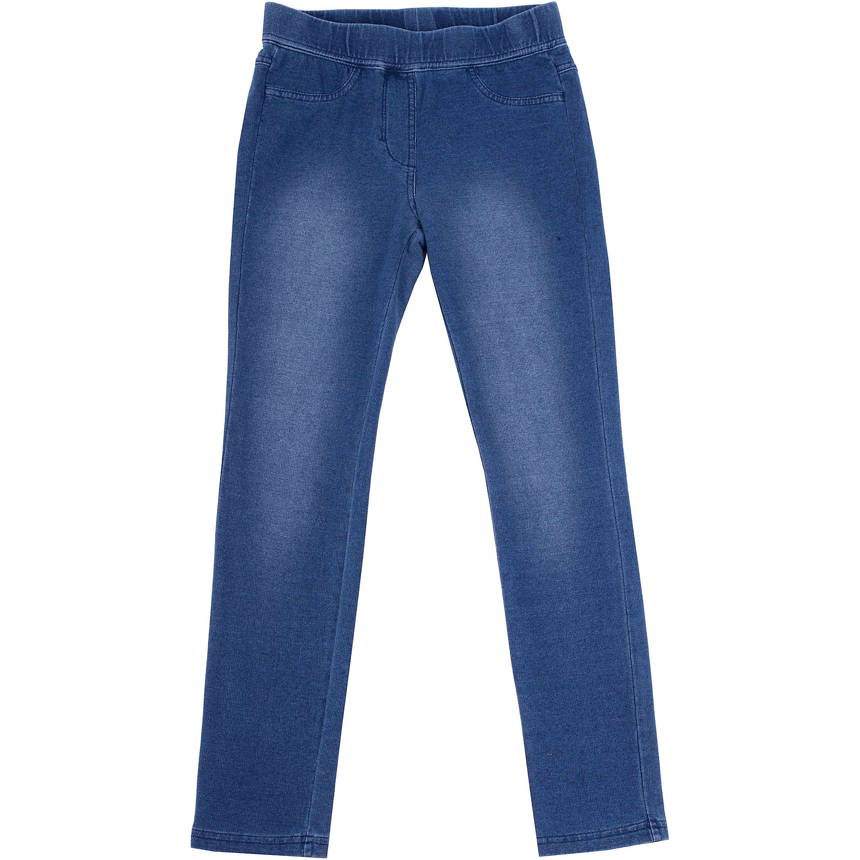 Леггинсы для девочки GulliverМодные джеггинсы обладают комфортом трикотажных лосин и внешним видом зауженных джинсов, поэтому по праву считаются самой удобной и функциональной вещью в гардеробе ребенка. Голубые джеггинсы - универсальный вариант на каждый день. Непрокрас, замины и потертости полностью имитируют модные джинсы.<br>Состав:<br>95% хлопок      5% эластан<br><br>Ширина мм: 123<br>Глубина мм: 10<br>Высота мм: 149<br>Вес г: 209<br>Цвет: голубой<br>Возраст от месяцев: 84<br>Возраст до месяцев: 96<br>Пол: Женский<br>Возраст: Детский<br>Размер: 140,122,128,134<br>SKU: 4534852