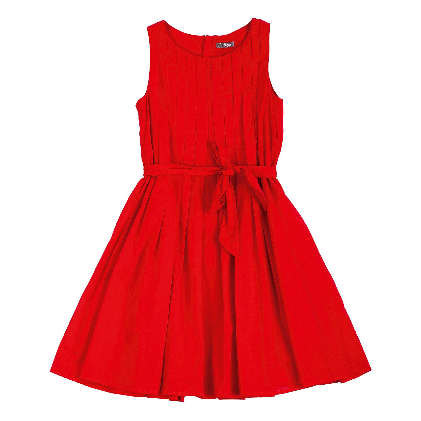 Платье для девочки GulliverОх уж эти модницы…Их летний гардероб пестрит нарядами, но разве можно пройти мимо нового платья? Красное платье без рукавов для девочки из легкого хлопка на подкладке выглядит ярко и необычно. В такой модели, как говорят и в пир, и в мир. Дополнив красное платье выразительными аксессуарами, можно создать элегантный нарядный образ, а также прекрасно чувствовать себя в нем на прогулке во дворе или в парке.<br>Состав:<br>верх:               100% хлопок; подкладка:            100% хлопок<br><br>Ширина мм: 236<br>Глубина мм: 16<br>Высота мм: 184<br>Вес г: 177<br>Цвет: красный<br>Возраст от месяцев: 108<br>Возраст до месяцев: 120<br>Пол: Женский<br>Возраст: Детский<br>Размер: 140,128,122,134<br>SKU: 4534862