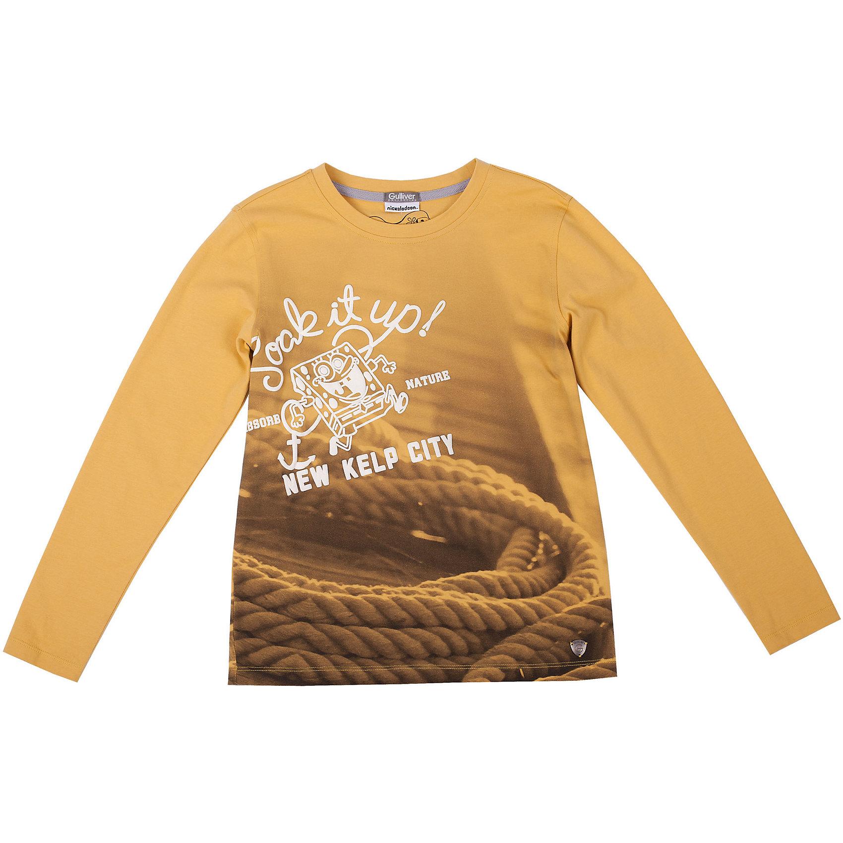 Футболка для мальчика GulliverВы хотите купить интересную цветную футболку с длинным рукавом для мальчика? Предпочитаете приобрести модную необычную модель, при этом качественную брендовую вещь, которая добавит в летний гардероб ребенка свежесть и позитив? Тогда эта классная яркая футболка с принтом - отличный выбор! Модная желтая футболка с длинным рукавом выполнена из мягкого хлопка с эластаном. Она сделает каждый день ребенка увлекательным и комфортным!<br>Состав:<br>95% хлопок      5% эластан<br><br>Ширина мм: 199<br>Глубина мм: 10<br>Высота мм: 161<br>Вес г: 151<br>Цвет: желтый<br>Возраст от месяцев: 72<br>Возраст до месяцев: 84<br>Пол: Мужской<br>Возраст: Детский<br>Размер: 122,128,140,134<br>SKU: 4534943