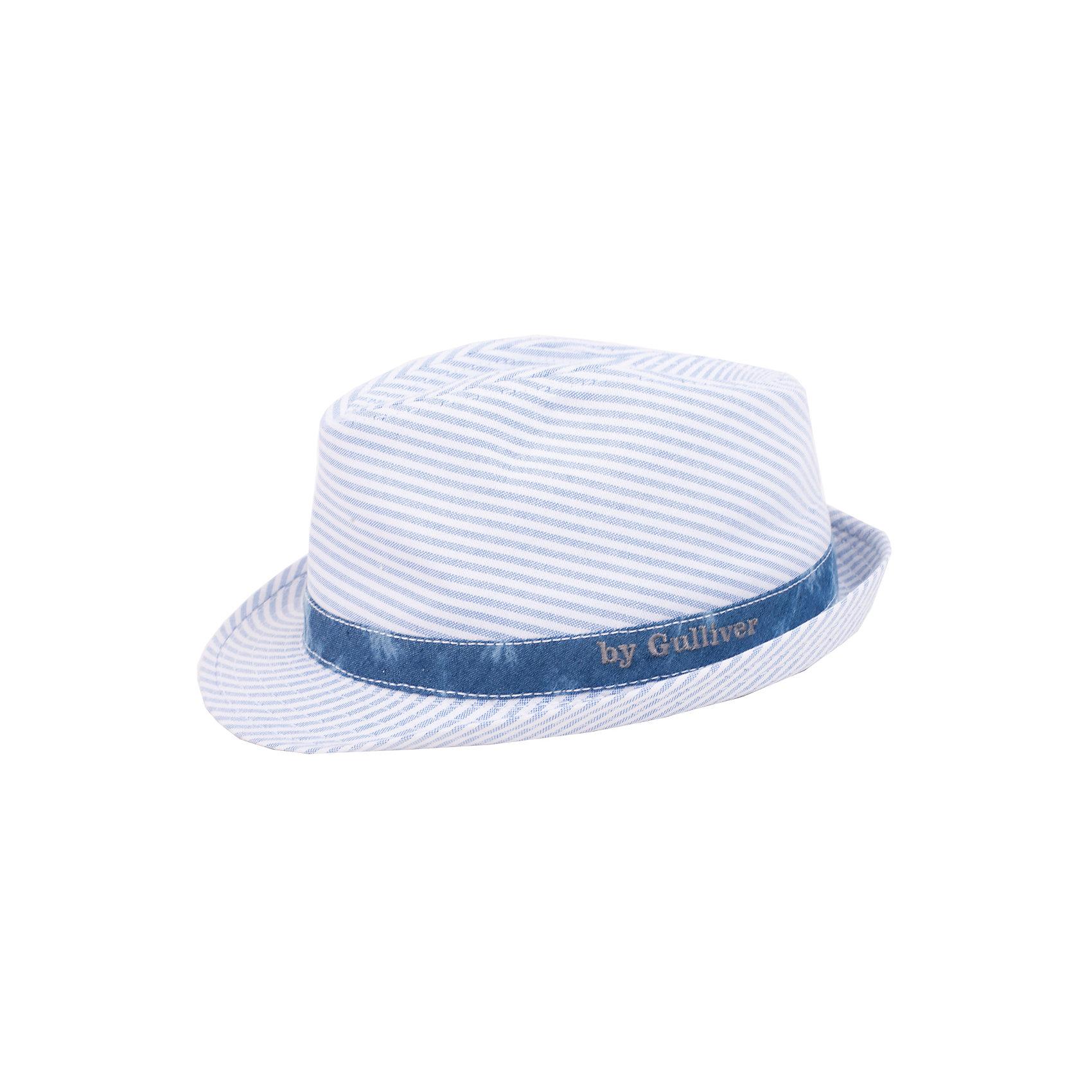 Шляпа для мальчика GulliverШляпа для мальчика - модный аксессуар, способный подчеркнуть индивидуальность ребенка. Если вы хотите купить шляпу, обратите внимание на эту модель! Шляпа из хлопка дышит, а также вызывает восторг, всеобщее одобрение и массу положительных эмоций.<br>Состав:<br>100% хлопок<br><br>Ширина мм: 89<br>Глубина мм: 117<br>Высота мм: 44<br>Вес г: 155<br>Цвет: белый<br>Возраст от месяцев: 48<br>Возраст до месяцев: 60<br>Пол: Мужской<br>Возраст: Детский<br>Размер: 52-54<br>SKU: 4534991
