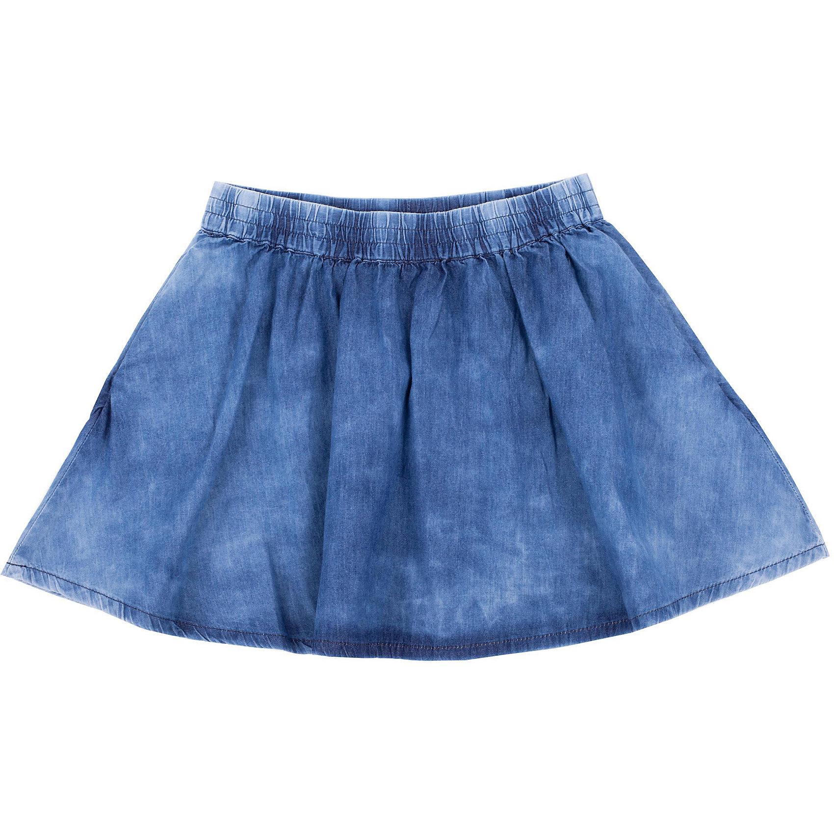 Юбка для девочки GulliverДжинсовая юбка для девочки - прекрасный вариант для жаркого лета. Тонкий деним, расклешенный силуэт, пояс на резинке, удобные карманы делают юбку незаменимой повседневной вещью в гардеробе ребенка. С блузкой, футболкой, топом юбка составит отличный летний комплект. Вы решали купить стильную юбку для девочки на каждый день? Эта модель - отличный выбор!<br>Состав:<br>100% хлопок<br><br>Ширина мм: 207<br>Глубина мм: 10<br>Высота мм: 189<br>Вес г: 183<br>Цвет: голубой<br>Возраст от месяцев: 132<br>Возраст до месяцев: 144<br>Пол: Женский<br>Возраст: Детский<br>Размер: 152,146,158,164<br>SKU: 4535053
