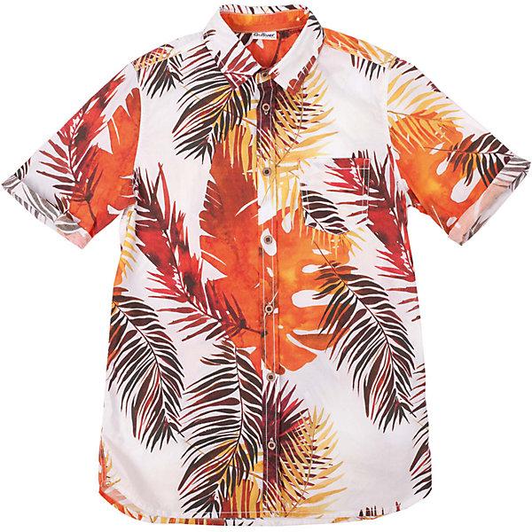 Рубашка для мальчика GulliverБлузки и рубашки<br>Модная рубашка из 100% хлопка с коротким рукавом - прекрасная модель для жаркого лета. Она создает отличное настроение и делает каждый день ребенка комфортным. Цветная рубашка для мальчика из коллекции Камбоджа - лучший пример рубашки в гавайском стиле: сочная цветовая гамма, оригинальный динамичный рисунок ткани, приталенный силуэт делают рубашку стильной, эффектной, оригинальной! Рубашка имеет эффект изделия, слегка выгоревшего на солнце, что, наверняка, понравится модному современному подростку. Если вы решили купить летнюю рубашку для мальчика, эта яркая, позитивная, удобная модель - отличный выбор!<br>Состав:<br>100% хлопок<br>Ширина мм: 174; Глубина мм: 10; Высота мм: 169; Вес г: 157; Цвет: белый; Возраст от месяцев: 120; Возраст до месяцев: 132; Пол: Мужской; Возраст: Детский; Размер: 146,152,158,164; SKU: 4535088;