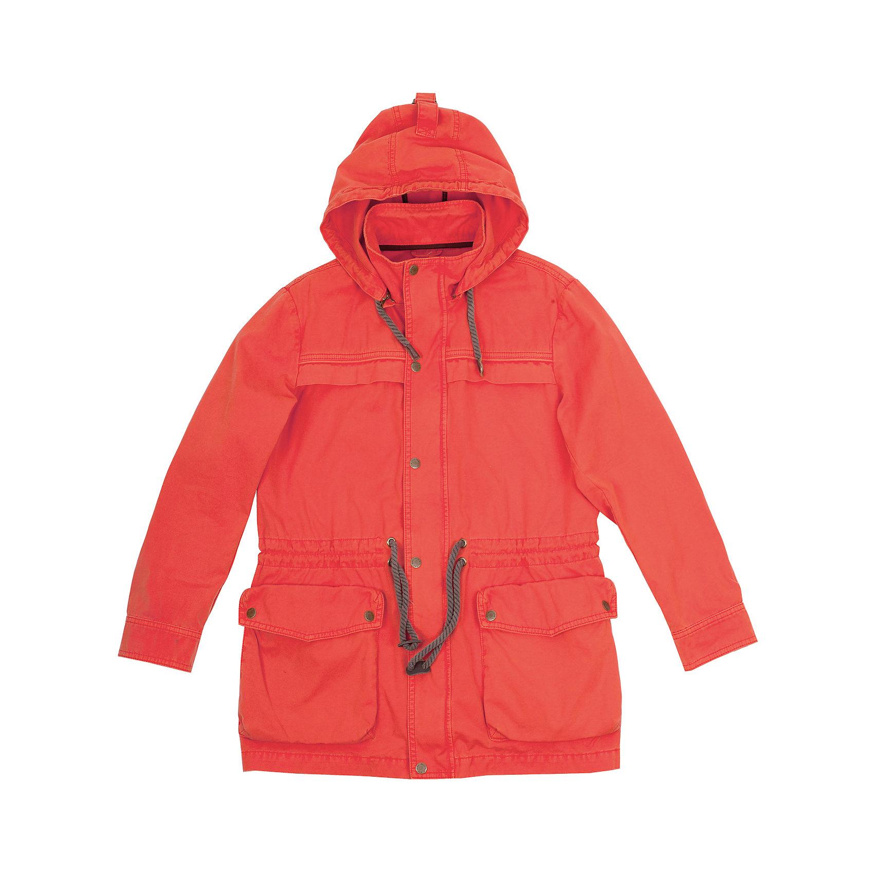 Ветровка для мальчика GulliverВерхняя одежда<br>Куртка- парка - бесспорный хит сезона Весна/Лето 2016! Выполненная в лучших традициях стиля casual, яркая оранжевая парка  -  прекрасный образец модной удлиненной ветровки для мальчика-подростка. Объемные карманы с клапанами, модные налокотники, функциональные детали, стильная брендированная  фурнитура делают эту ветровку-парку ярким, заметным, энергичным изделием коллекции. Эстетичная обработка внутренних швов модели говорит о продуманности и высоком качестве исполнения. Вы хотите купить стильную ветровку для мальчика? Оранжевая куртка-парка даже лучше, чем вы ожидаете! Она настраивает на позитив и активное времяпрепровождение.<br>Состав:<br>100% хлопок<br><br>Ширина мм: 356<br>Глубина мм: 10<br>Высота мм: 245<br>Вес г: 519<br>Цвет: оранжевый<br>Возраст от месяцев: 156<br>Возраст до месяцев: 168<br>Пол: Мужской<br>Возраст: Детский<br>Размер: 164,146,152,158<br>SKU: 4535098