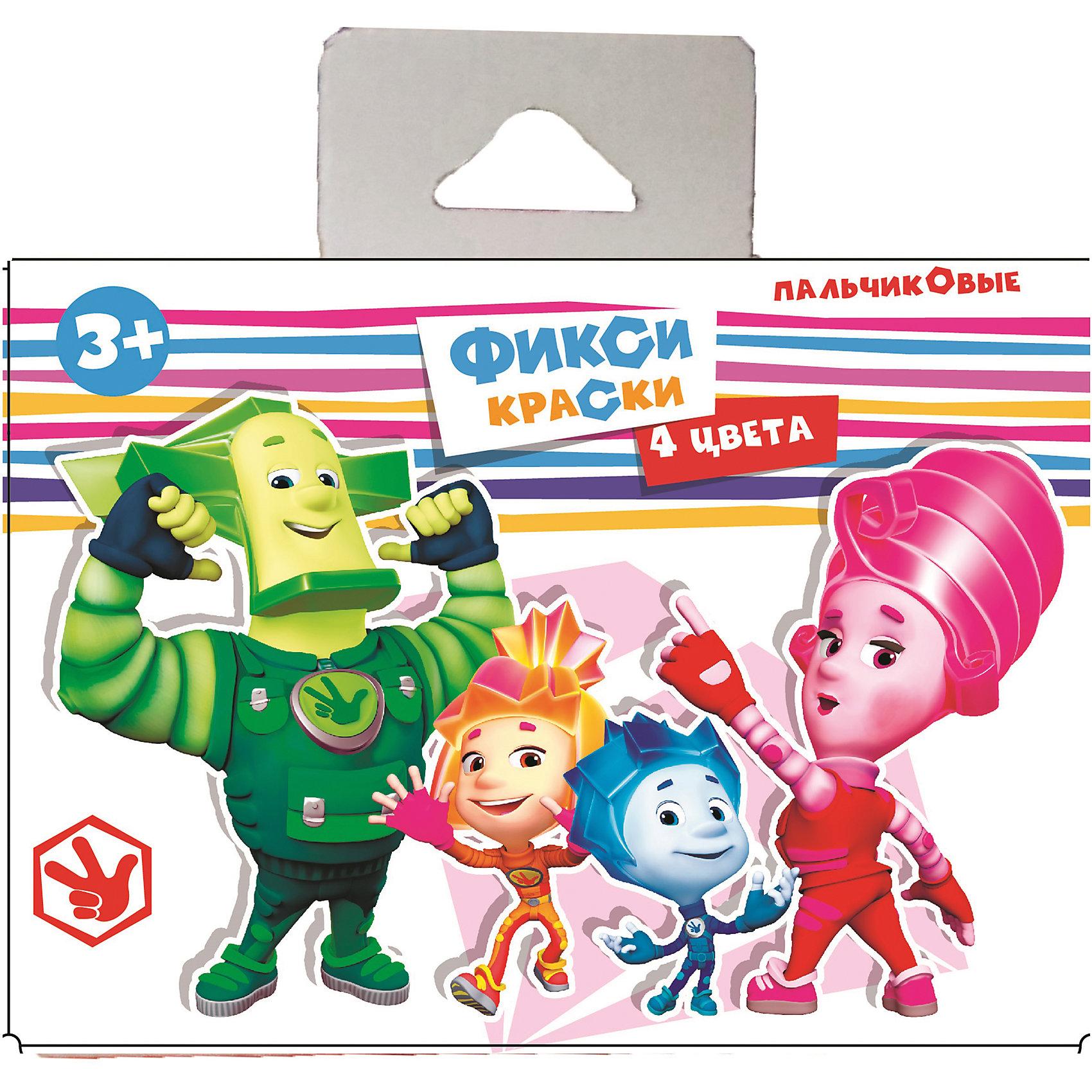 Набор пальчиковых красок Фиксики, 4 цветаПопулярные игрушки<br>Набор пальчиковых красок Фиксики, 4 цвета – это увлекательный набор для детского творчества<br>Набор пальчиковых красок Фиксики позволит маленькому художнику создать свои первые шедевры. Набор пальчиковых красок замечательно подходит для самых маленьких детей, которым еще трудно держать в руках кисточку. В комплекте 4 баночки разных цветов, специально предназначенных для рисования пальцами. Обмакнув пальчики в краски, малыш сможет нарисовать свои первые картинки. Краски не вызывают аллергических реакций и абсолютно безвредны для кожи. Набор развивает у ребенка фантазию, творческие способности и мелкую моторику рук.<br><br>Дополнительная информация:<br><br>- В наборе: 4 баночки по 40 мл.<br>- Цвета: желтый, красный, зеленый, синий<br>- Упаковка: картонная коробка с ручкой<br>- Размер упаковки: 70х145х110 мм.<br>- Вес: 200 гр.<br><br>Набор пальчиковых красок Фиксики, 4 цвета можно купить в нашем интернет-магазине.<br><br>Ширина мм: 70<br>Глубина мм: 145<br>Высота мм: 110<br>Вес г: 2400<br>Возраст от месяцев: 36<br>Возраст до месяцев: 120<br>Пол: Унисекс<br>Возраст: Детский<br>SKU: 4535525