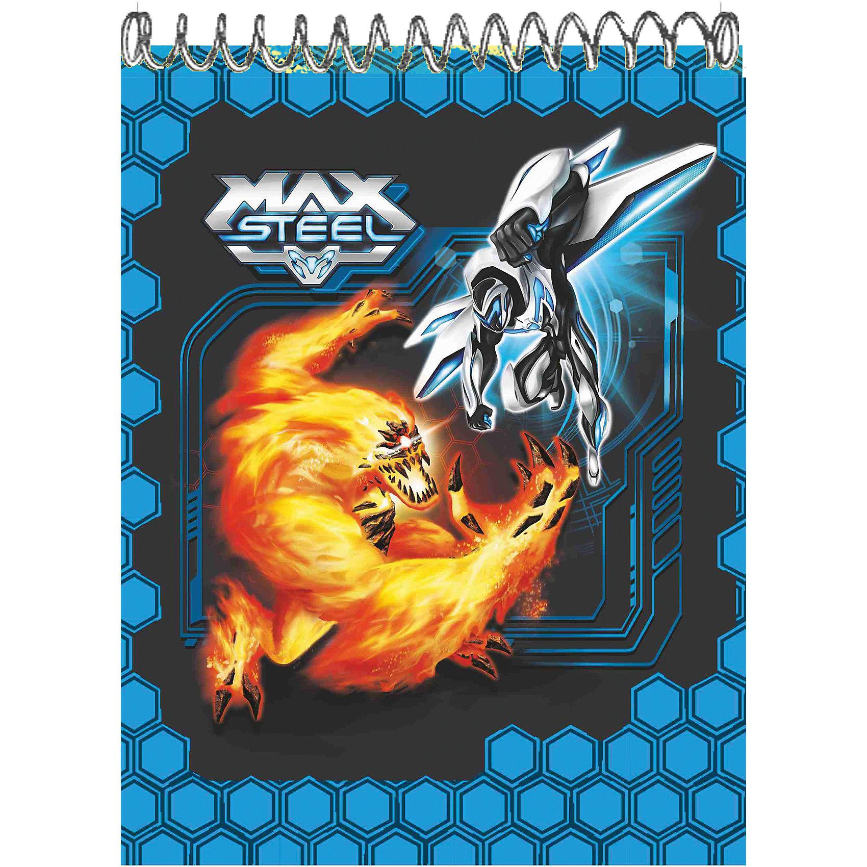 Блокнот Max Steel, формат А5Блокнот Max Steel, формат А5 - это стильный аксессуар для поклонника мультсериала Max Steel.<br>Удобный блокнот на спирали с листами в клетку идеально подойдет вашему ребенку для записей. Обложка из мелованного картона оформлена изображением героев мультсериала Max Steel.<br><br>Дополнительная информация:<br><br>- Формат: А5<br>- Тип крепления: спираль<br>- Количество листов: 60 (клетка)<br>- Размер: 135х205 мм.<br>- Обложка: мелованный картон<br><br>Блокнот Max Steel, формат А5 можно купить в нашем интернет-магазине.<br><br>Ширина мм: 15<br>Глубина мм: 138<br>Высота мм: 200<br>Вес г: 2025<br>Возраст от месяцев: 36<br>Возраст до месяцев: 120<br>Пол: Мужской<br>Возраст: Детский<br>SKU: 4535549