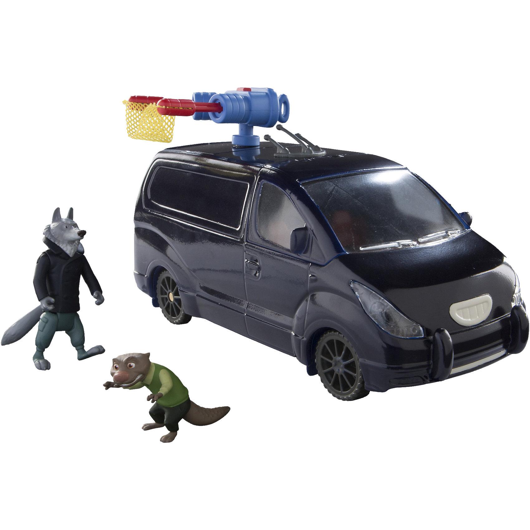 Игровой набор Похищение мистера Выдрингтона, со звуком и светом, ЗверополисПрекрасный игровой набор, созданный по мотивам одной из самых ожидаемых мультипликационных премьер 2016 года – «Зверополис» (Zootopia), приведет в восторг всех детей! В комплект входит минивен с закрытым фургоном, оснащенный функциональными деталями. Автомобиль имеет открывающуюся кабину, в которую можно поместить две фигурки героев Зверополиса. На крышу автомобиля можно установить специальное устройство для отлова неадекватных жителей города. Закрепите приспособление, нажмите на красную кнопку, расположенную в верхней части установки, и она выстрелит сеткой, фиксирующей нарушителя порядка, после чего его можно будет поместить в фургон, двери которого открываются. На внутренней части дверей багажника вы можете увидеть следы когтей «пассажиров». Автомобиль оснащен световыми эффектами, для активации которых необходимо переключить маленький рычажок, находящийся на нижней части автомобиля. <br><br>Дополнительная информация:<br><br>- Материал: пластик.<br>- Размер упаковки: 29.5 х 12 х 29 см.<br>- Высота фигурки волка: 7,5 см.<br>- Голова и лапки подвижные. <br>- Высота фигурки мистера Выдрингтона: 2 см. <br>- Двери автомобиля, багажное отделение открываются.<br>- Колеса подвижные. <br>- Световые, звуковые эффекты (светятся фары, сирена).<br>- Элемент питания: 3 ААА батарейки (не входят в комплект).<br>- Комплектация: машина, 2 фигурки (загадочный волк, мистер Выдрингтон). <br><br>Игровой набор Похищение мистера Выдрингтона, со звуком и светом, Зверополис, можно купить в нашем магазине.<br><br>Ширина мм: 301<br>Глубина мм: 296<br>Высота мм: 129<br>Вес г: 679<br>Возраст от месяцев: 36<br>Возраст до месяцев: 72<br>Пол: Унисекс<br>Возраст: Детский<br>SKU: 4536164