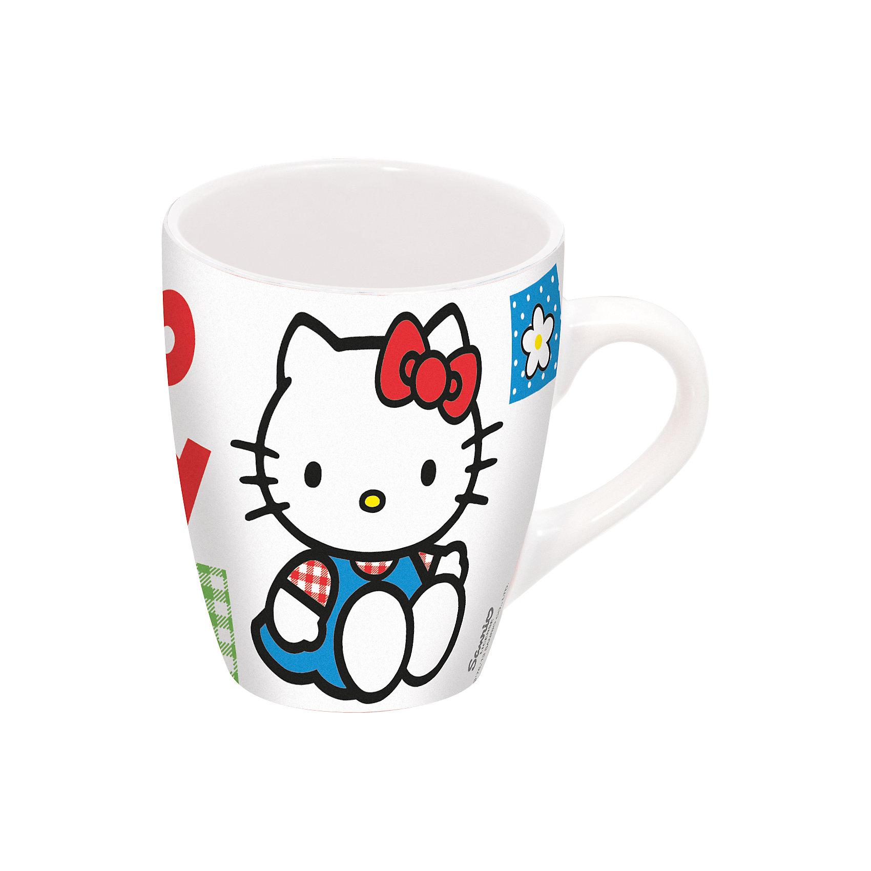Керамическая кружка Hello Kitty 360 млКерамическая кружка Hello Kitty станет любимым предметом посуды Вашего ребенка, так как не нагревается при наливании внутрь горячей жидкости и выглядит очень ярко. У кружки удобная ручка, которая оптимально подойдет для размера детской руки. Кружка Hello Kitty выполнено по мотивам популярного детского мультфильма «Хеллоу Китти» и украшено изображением миловидного белого котенка с красным бантиком. Рисунок нанесен яркими насыщенными красками, которые не выцветают и не истираются со временем. Изделие выполнено из высококачественной прочной керамики, поэтому посуда будет радовать ребёнка долгое время.<br><br>Дополнительная информация:<br><br>возраст: от 3 лет.<br>- объем: 360 мл.<br>- материал: керамика<br><br>Стеклянную кружку Hello Kitty 360 мл можно купить в нашем интернет-магазине.<br><br>Ширина мм: 130<br>Глубина мм: 105<br>Высота мм: 15<br>Вес г: 403<br>Возраст от месяцев: 36<br>Возраст до месяцев: 168<br>Пол: Женский<br>Возраст: Детский<br>SKU: 4536180