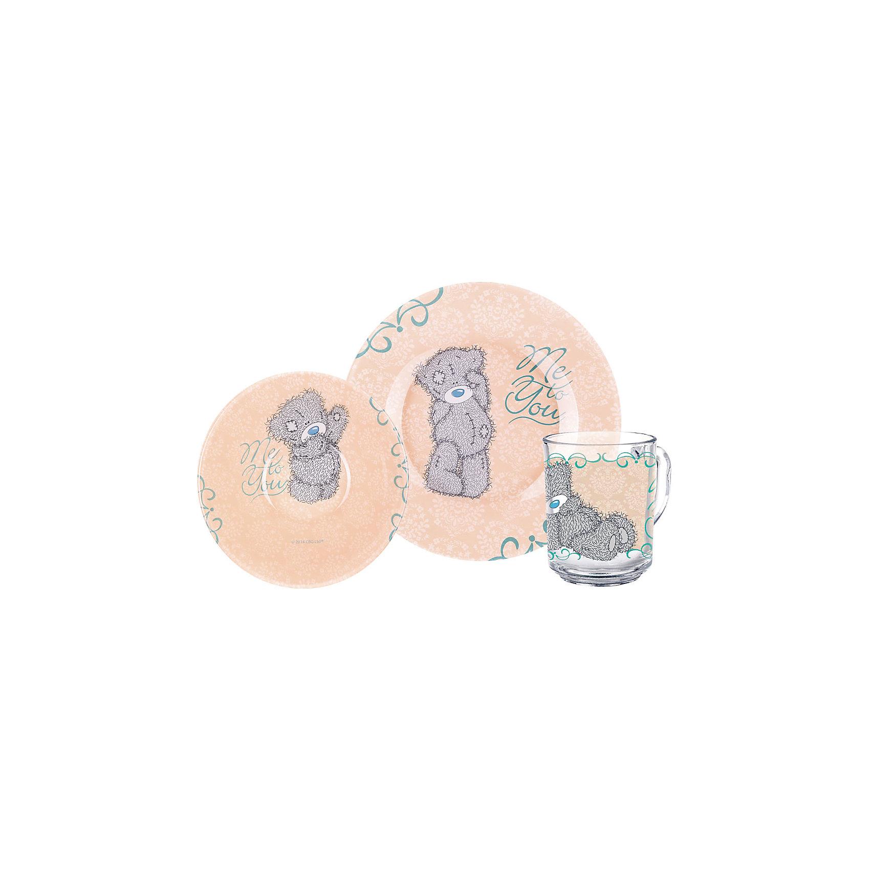 МФК-профит Набор посуды Барокко (3 предмета, стекло), Me to You футболка для беременных printio мишка me to you