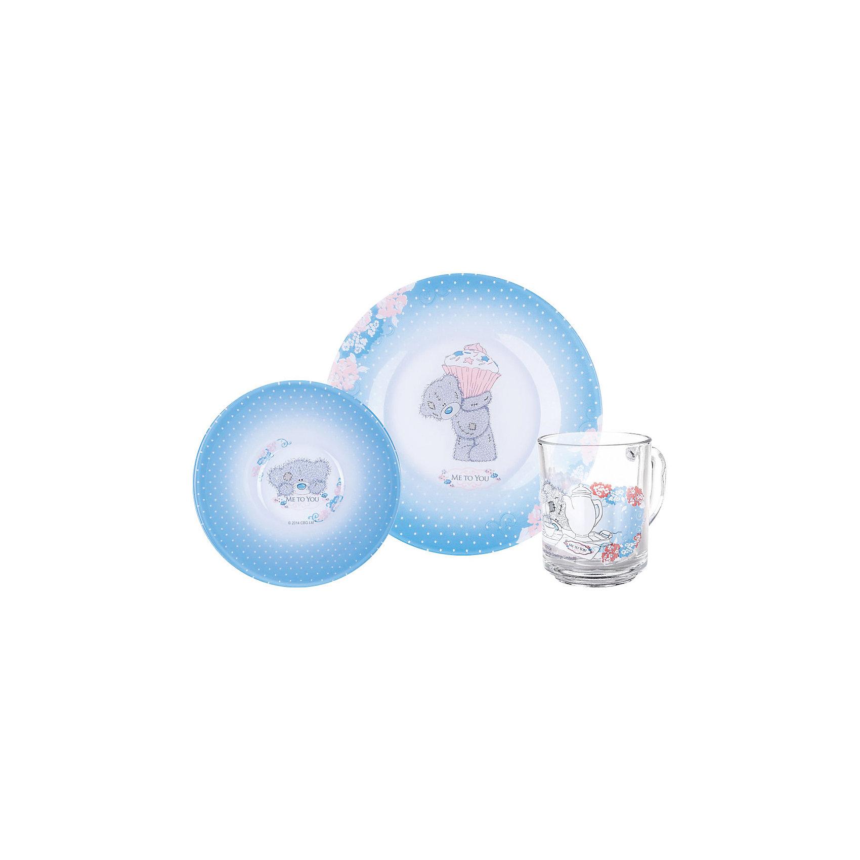 МФК-профит Набор посуды Пирожное (3 предмета, стекло), Me to You футболка для беременных printio мишка me to you