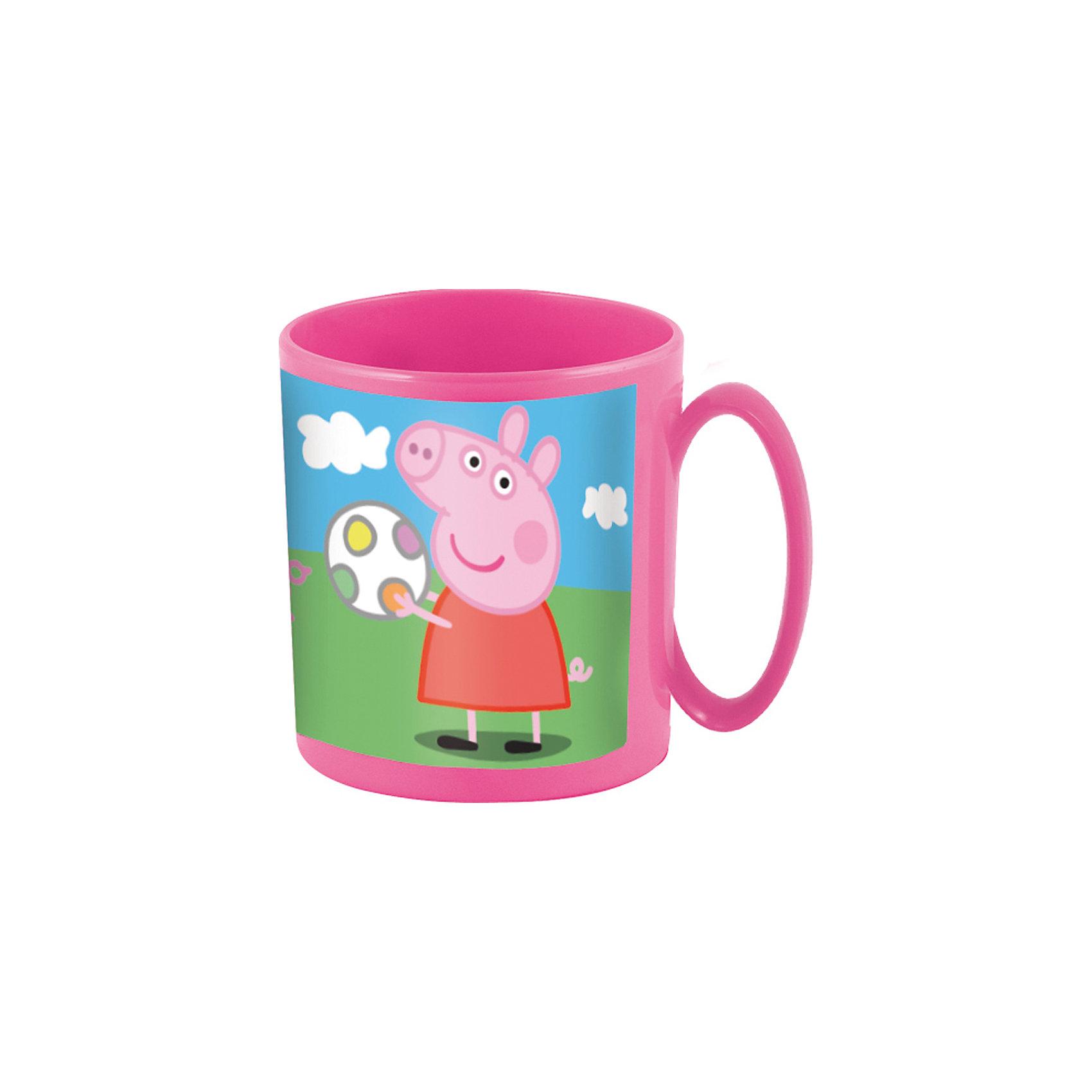 Кружка Свинка Пеппа 350 млКружка с изображением героини любимого мультика про Свинку Пеппу (Peppa Pig).<br><br>Дополнительная информация:<br><br>Объем: 350 мл<br>Материал: пластик<br><br>Кружку Свинка Пеппа 350 мл можно купить в нашем магазине.<br><br>Ширина мм: 110<br>Глубина мм: 125<br>Высота мм: 90<br>Вес г: 73<br>Возраст от месяцев: 36<br>Возраст до месяцев: 84<br>Пол: Унисекс<br>Возраст: Детский<br>SKU: 4536187
