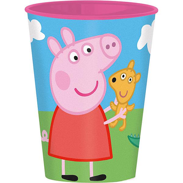 Стакан Свинка Пеппа 260 млСвинка Пеппа<br>Яркий пластиковый стакан Свинка Пеппа 260 мл обязательно понравится Вашему малышу! Ведь Пеппа - любимица многих детей! Стакан изготовлен из высококачественного пластика и безопасен для здоровья ребенка. Использование: для пищевых продуктов, температурой не выше 60 градусов.<br><br>Дополнительная информация: <br><br>- материал: полипропилен<br>- объем: 260 мл.<br><br>Стакан Свинка Пеппа 260 мл можно купить в нашем интернет-магазине.<br><br>Ширина мм: 76<br>Глубина мм: 76<br>Высота мм: 97<br>Вес г: 23<br>Возраст от месяцев: 36<br>Возраст до месяцев: 84<br>Пол: Унисекс<br>Возраст: Детский<br>SKU: 4536189