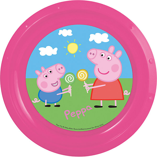 Тарелка Свинка Пеппа, диаметр 21,5 смДетская посуда<br>Яркая пластиковая тарелка с изображением героев популярного мультфильма «Свинка Пеппа», отличается высоким качеством пластика, безопасна для здоровья ребенка. <br><br>Дополнительная информация:<br><br>- размер изделия — 21.5*21.5*1.9 см.<br><br>Тарелку Свинка Пеппа, диаметром 21,5 см можно купить в нашем интернет-магазине.<br><br>Ширина мм: 215<br>Глубина мм: 215<br>Высота мм: 19<br>Вес г: 43<br>Возраст от месяцев: 36<br>Возраст до месяцев: 84<br>Пол: Унисекс<br>Возраст: Детский<br>SKU: 4536190