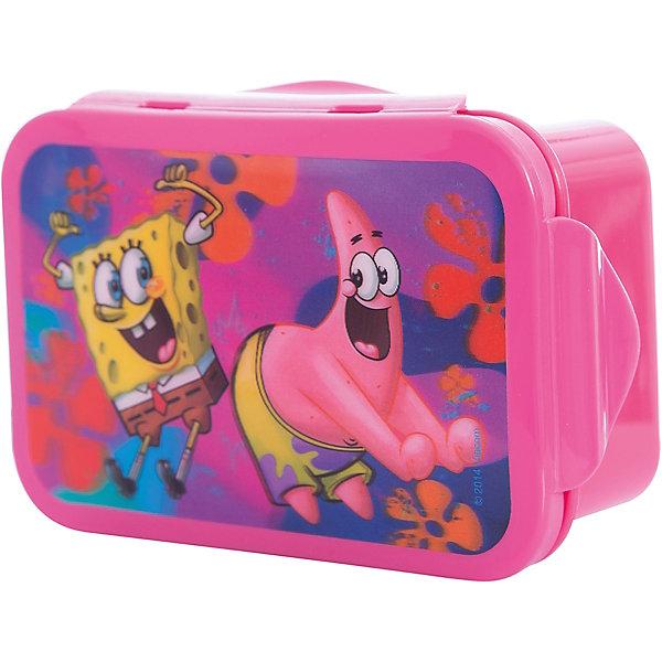 Бутербродница Губка Боб 16*10 см, розовыйГубка Боб<br>Розовая бутербродница Губка Боб 16*10 см – замечательно подойдет для школьных завтраков, и будет незаменима в путешествиях.<br>Яркая прямоугольная бутербродница Губка Боб с 3D изображением Губки Боба и Патрика порадует Вашего ребенка и Вам не придется уговаривать его взять еду с собой. В ней можно хранить и переносить бутерброды, салаты и закуски. Бутербродница изготовлена из безопасного пищевого пластика, плотно закрывается крышкой с зажимом. Она удобная и компактная, поэтому не займет много места в сумке или рюкзаке.<br><br>Дополнительная информация:<br><br>- Размер: 16 х 10 см.<br>- Материал: пластик<br>- Цвет: розовый<br>- Размер упаковки: 16х10х6 см.<br><br>Розовую бутербродницу Губка Боб 16*10 см можно купить в нашем интернет-магазине.<br>Ширина мм: 160; Глубина мм: 100; Высота мм: 60; Вес г: 100; Возраст от месяцев: 36; Возраст до месяцев: 108; Пол: Женский; Возраст: Детский; SKU: 4536220;