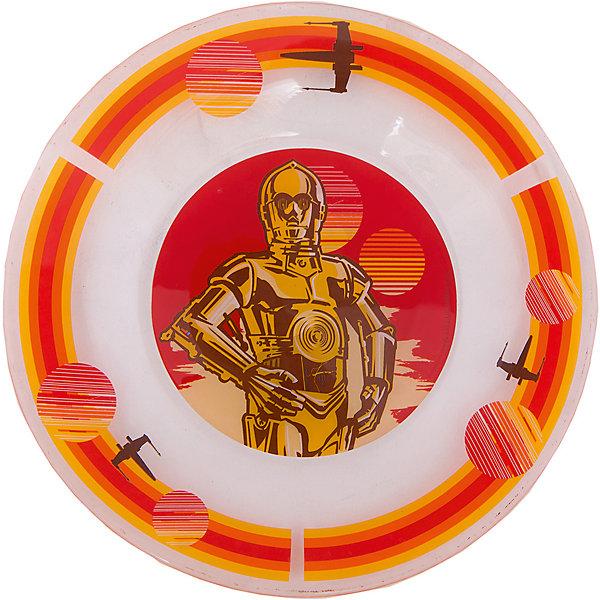 Тарелка Роботы (стекло, диаметр 19,5 см), Звездные войныЗвездные войны Посуда<br>Тарелка Роботы (стекло, диаметр 19,5 см), Звездные войны – это отличный подарок для фаната вселенной Star Wars.<br>Стеклянная тарелка Роботы, оформленная ярким красочным рисунком с изображением робота C-3PO героя киносаги «Звездные войны», идеально подойдет для повседневного использования. Тарелка изготовлена из безопасного качественного материала.<br><br>Дополнительная информация:<br><br>- Диаметр: 19,5 см.<br>- Глубина: 2 см.<br>- Цвет рисунка: оранжевый<br>- Материал: стекло<br><br>Тарелку Роботы (стекло, диаметр 19,5 см), Звездные войны можно купить в нашем интернет-магазине.<br><br>Ширина мм: 190<br>Глубина мм: 190<br>Высота мм: 20<br>Вес г: 240<br>Возраст от месяцев: 36<br>Возраст до месяцев: 144<br>Пол: Унисекс<br>Возраст: Детский<br>SKU: 4536264