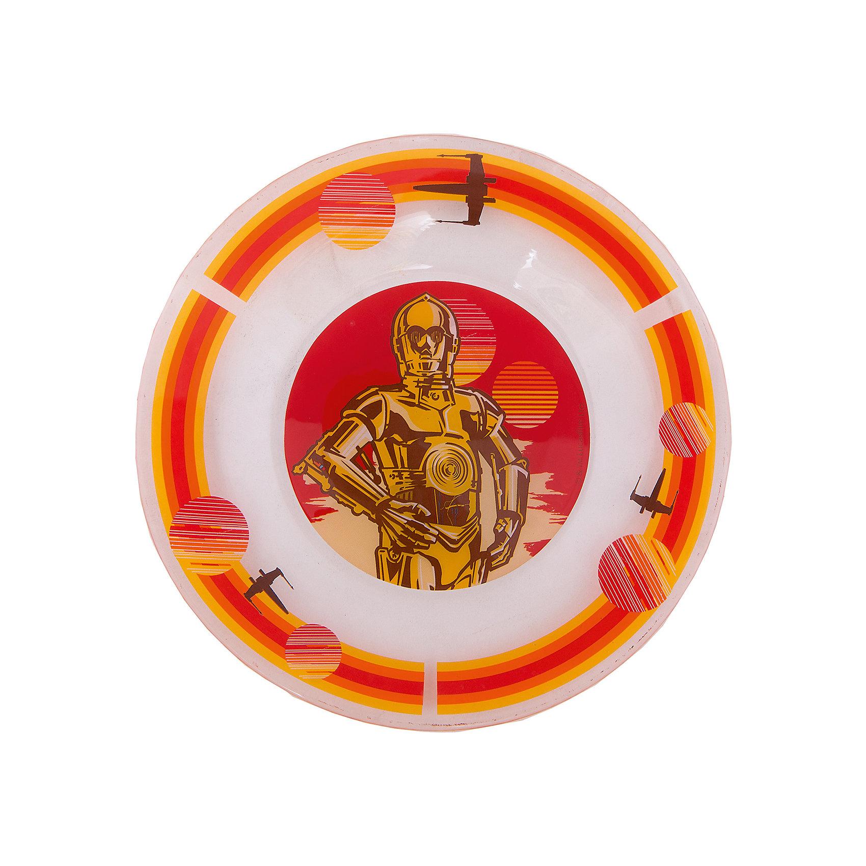 Тарелка Роботы (стекло, диаметр 19,5 см), Звездные войныТарелка Роботы (стекло, диаметр 19,5 см), Звездные войны – это отличный подарок для фаната вселенной Star Wars.<br>Стеклянная тарелка Роботы, оформленная ярким красочным рисунком с изображением робота C-3PO героя киносаги «Звездные войны», идеально подойдет для повседневного использования. Тарелка изготовлена из безопасного качественного материала.<br><br>Дополнительная информация:<br><br>- Диаметр: 19,5 см.<br>- Глубина: 2 см.<br>- Цвет рисунка: оранжевый<br>- Материал: стекло<br><br>Тарелку Роботы (стекло, диаметр 19,5 см), Звездные войны можно купить в нашем интернет-магазине.<br><br>Ширина мм: 190<br>Глубина мм: 190<br>Высота мм: 20<br>Вес г: 240<br>Возраст от месяцев: 36<br>Возраст до месяцев: 144<br>Пол: Унисекс<br>Возраст: Детский<br>SKU: 4536264