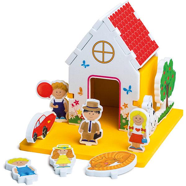 Мягкий конструктор Домик, PicnMixКонструкторы для малышей<br>Мягкий конструктор идеально подходит даже для самых маленьких строителей! Яркие детали и разнообразие форм привлекут внимание малышей и раскроют невероятные возможности для творчества. Конструктор подходит как для игр в комнате, так и в ванной. Все элементы выполнены из высококачественных материалов, с применением экологичных красителей, не имеют острых углов, абсолютно безопасны для детей. Мягкий конструктор - прекрасный подарок на любой праздник, он надолго увлечет ребенка, помогая ему развить логику, моторику рук, цветовосприятие и фантазию.<br>В комплект входит инструкция-методическое пособие со сценарием проведения игры, при помощи взрослого ребенок собирает из нескольких деталей конструкцию дома и устанавливает на подставке те фигурки, которые соответствуют игровому сюжету. <br><br>Дополнительная информация:<br><br>- Материал: ЭВА.<br>- Размер упаковки: 32х6х31 см. <br>- Не имеет острых углов.<br>- Можно использовать в воде. <br><br>Мягкий конструктор Домик, Pic`n Mix, можно купить в нашем магазине.<br><br>Ширина мм: 210<br>Глубина мм: 80<br>Высота мм: 270<br>Вес г: 300<br>Возраст от месяцев: 18<br>Возраст до месяцев: 36<br>Пол: Унисекс<br>Возраст: Детский<br>SKU: 4536634