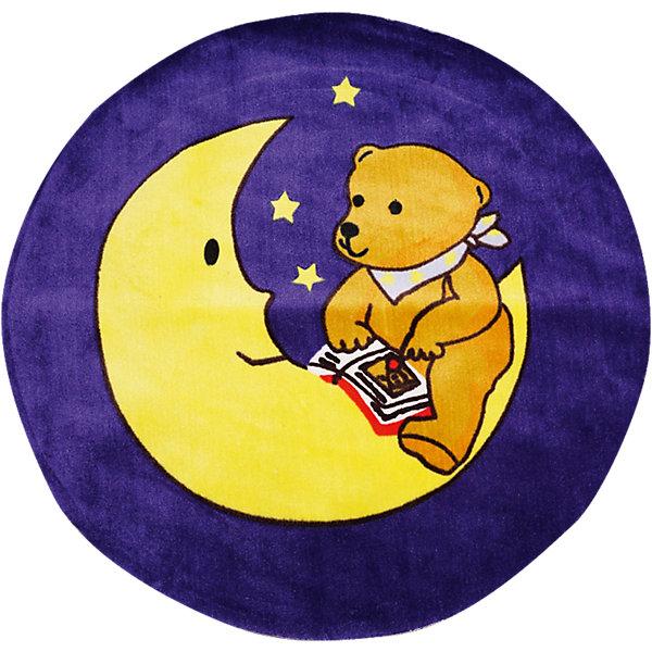 Ковер Мишка на луне, диаметр 1,2 мДетские ковры<br>Яркий ковер с изображением милого мишки, сидящего на месяце, прекрасно впишется в интерьер детской и приведет в восторг любого ребенка. Ковер изготовлен из акриловой пряжи, он очень мягкий на ощупь, гипоаллергенный, легко чистится, мало весит, прекрасно сохраняет тепло. Края изделия аккуратно и надежно обработаны. Подложка выполнена из текстильного материала - полихлопка (хлопок и полиэстер в соотношении 80/20). Полихлопок обладает высокой степенью износостойкости и в то же время достаточно мягок, чтобы не наносить повреждения на ламинированные и паркетные полы.<br><br>Дополнительная информация:<br><br>- Материал: акрил, полихлопок. <br>- Размер: d - 1,2.<br>- Цвет: желтый, фиолетовый.<br>- Отличная теплопроводность. <br>- Антистатичность. <br>- Цветостойкость: долго сохраняет яркость цвета. <br><br>Ковер Мишка на луне, диаметр 1,2 м, можно купить в нашем магазине.<br><br>Ширина мм: 1200<br>Глубина мм: 120<br>Высота мм: 120<br>Вес г: 2680<br>Возраст от месяцев: -2147483648<br>Возраст до месяцев: 2147483647<br>Пол: Унисекс<br>Возраст: Детский<br>SKU: 4537007