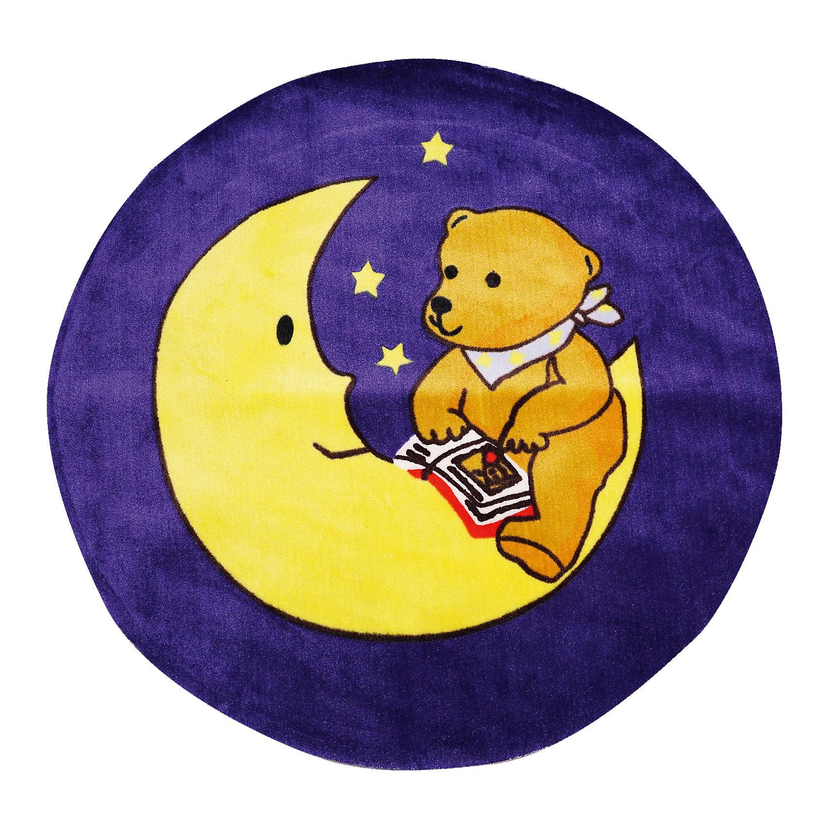 Ковер Мишка на луне, диаметр 1,2 мКовры<br>Яркий ковер с изображением милого мишки, сидящего на месяце, прекрасно впишется в интерьер детской и приведет в восторг любого ребенка. Ковер изготовлен из акриловой пряжи, он очень мягкий на ощупь, гипоаллергенный, легко чистится, мало весит, прекрасно сохраняет тепло. Края изделия аккуратно и надежно обработаны. Подложка выполнена из текстильного материала - полихлопка (хлопок и полиэстер в соотношении 80/20). Полихлопок обладает высокой степенью износостойкости и в то же время достаточно мягок, чтобы не наносить повреждения на ламинированные и паркетные полы.<br><br>Дополнительная информация:<br><br>- Материал: акрил, полихлопок. <br>- Размер: d - 1,2.<br>- Цвет: желтый, фиолетовый.<br>- Отличная теплопроводность. <br>- Антистатичность. <br>- Цветостойкость: долго сохраняет яркость цвета. <br><br>Ковер Мишка на луне, диаметр 1,2 м, можно купить в нашем магазине.<br><br>Ширина мм: 1200<br>Глубина мм: 120<br>Высота мм: 120<br>Вес г: 2680<br>Возраст от месяцев: -2147483648<br>Возраст до месяцев: 2147483647<br>Пол: Унисекс<br>Возраст: Детский<br>SKU: 4537007