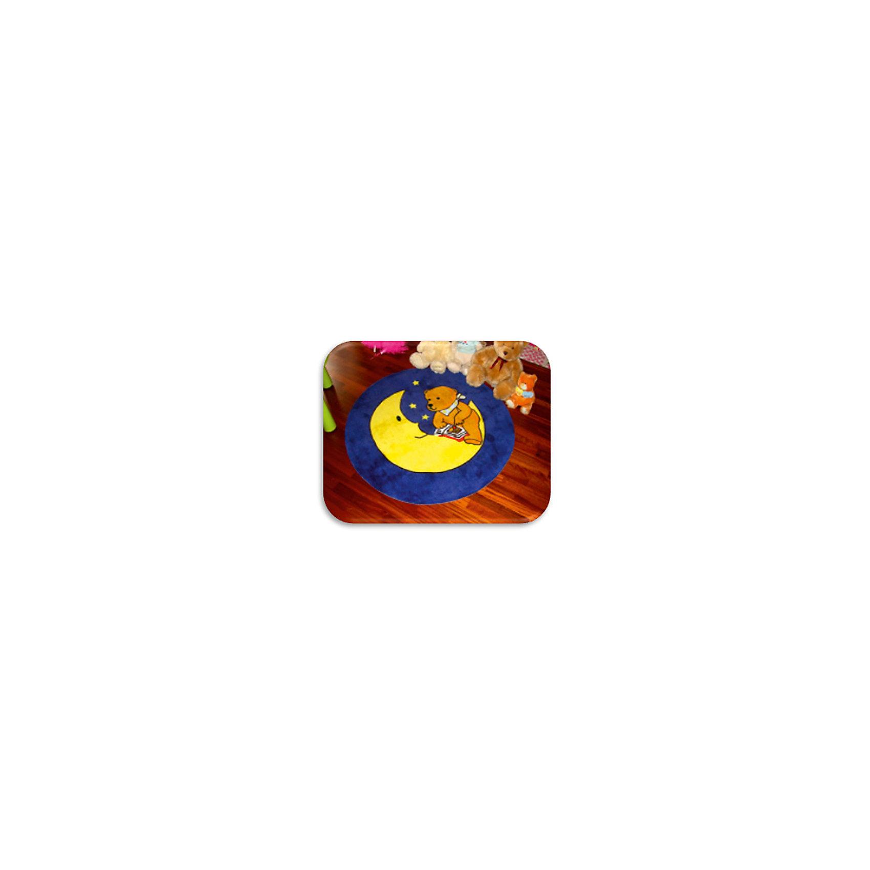 """Ковер """"Мишка на луне"""", диаметр 1,2 м от myToys"""