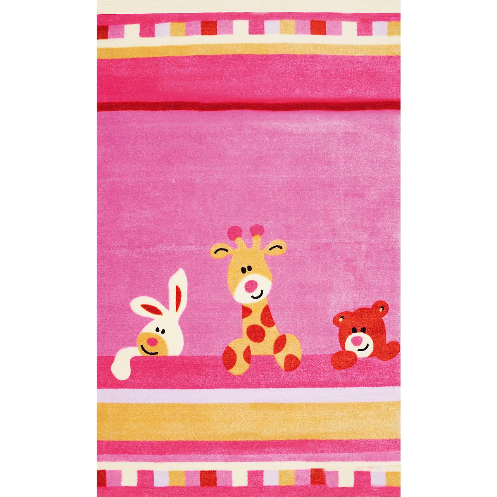 Розовый ковер 120 * 180 см