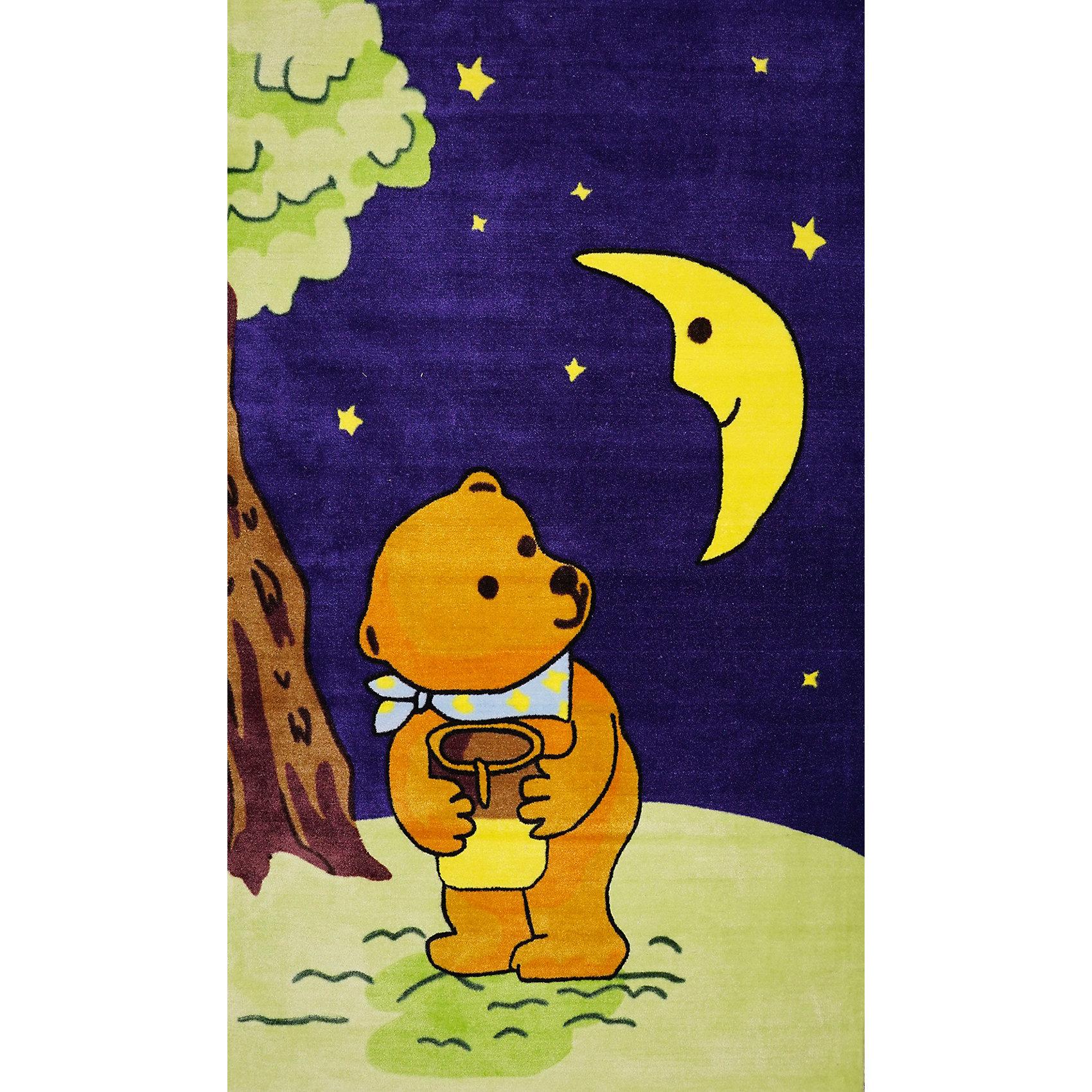 Ковер Мишка с мёдом 80 * 120 смМягкий ковер создаст уют в детской, сохранит тепло, позволив ребенку играть прямо на полу. Прямоугольный ковер с ярким рисунком прекрасно впишется в интерьер детской и обязательно понравится ребенку. Ковер изготовлен из акриловой пряжи, он очень мягкий на ощупь, гипоаллергенный, легко чистится, мало весит, прекрасно сохраняет тепло. Края изделия аккуратно и надежно обработаны. Подложка выполнена из текстильного материала - полихлопка (хлопок и полиэстер в соотношении 80/20). Полихлопок обладает высокой степенью износостойкости и в то же время достаточно мягок, чтобы не наносить повреждения на ламинированные и паркетные полы.<br><br>Дополнительная информация:<br><br>- Материал: акрил, полихлопок. <br>- Размер: 80х120 см. <br>- Цвет: синий, желтый, зеленый. <br>- Отличная теплопроводность. <br>- Антистатичность. <br>- Цветостойкость: долго сохраняет яркость цвета. <br><br>Ковер Мишка с мёдом 80 х 120 см, можно купить в нашем магазине.<br><br>Ширина мм: 800<br>Глубина мм: 120<br>Высота мм: 120<br>Вес г: 1680<br>Возраст от месяцев: -2147483648<br>Возраст до месяцев: 2147483647<br>Пол: Унисекс<br>Возраст: Детский<br>SKU: 4537015