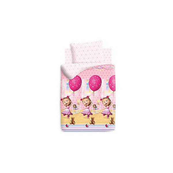Комплект День рождения 1,5-спальный (наволочка 70*70 см), Маша и МедведьДетское постельное бельё<br>Комплект День рождения порадует всех поклонников мультсериала Маша и Медведь. Постельное белье выполнено из высококачественного хлопка, очень приятно к телу. В производстве изделия используются качественные  красители, что позволяет  сохранять яркость цвета на протяжении всего времени эксплуатации. Ткань не вызывает аллергических реакций, обладает высокой воздухопроницаемостью, гипоаллергенна.<br><br>Дополнительная информация:<br><br>- Комплектация: наволочка (1 шт.), простыня (1 шт.), пододеяльник (1 шт.).<br>- Материал: бязь (100% хлопок).<br>- Размер: наволочка -  70х70 см, простыня - 214х150 см, пододеяльник - 215х143 см.<br>- Цвет: розовый, белый.<br>- Декоративные элементы: принт.<br><br>Комплект День рождения 1,5-спальный (наволочка 70х70 см), Маша и Медведь, можно купить в нашем магазине.<br><br>Ширина мм: 250<br>Глубина мм: 350<br>Высота мм: 70<br>Вес г: 1150<br>Возраст от месяцев: 36<br>Возраст до месяцев: 144<br>Пол: Унисекс<br>Возраст: Детский<br>SKU: 4537447
