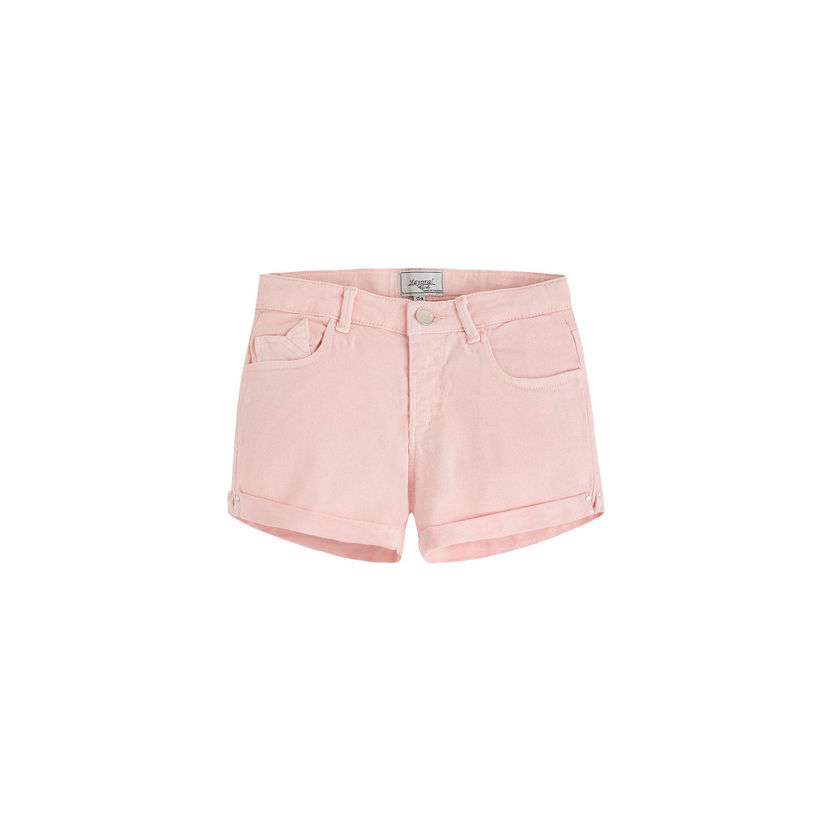 Шорты для девочки MayoralШорты для девочки от известной испанской марки Mayoral - прекрасный вариант для летнего гардероба юной модницы.<br><br>Дополнительная информация:<br><br>- Приятная к телу ткань.<br>- Застегиваются на молнию и пуговицу.<br>- 5 карманов.<br>- С отворотами. <br>- Регулируются на талии. <br>- Состав: 98% хлопок, 2% эластан.<br><br>Шорты для девочки Mayoral (Майорал) можно купить в нашем магазине.<br><br>Ширина мм: 191<br>Глубина мм: 10<br>Высота мм: 175<br>Вес г: 273<br>Цвет: бежевый<br>Возраст от месяцев: 108<br>Возраст до месяцев: 120<br>Пол: Женский<br>Возраст: Детский<br>Размер: 140,128,158,164,170,152<br>SKU: 4537509