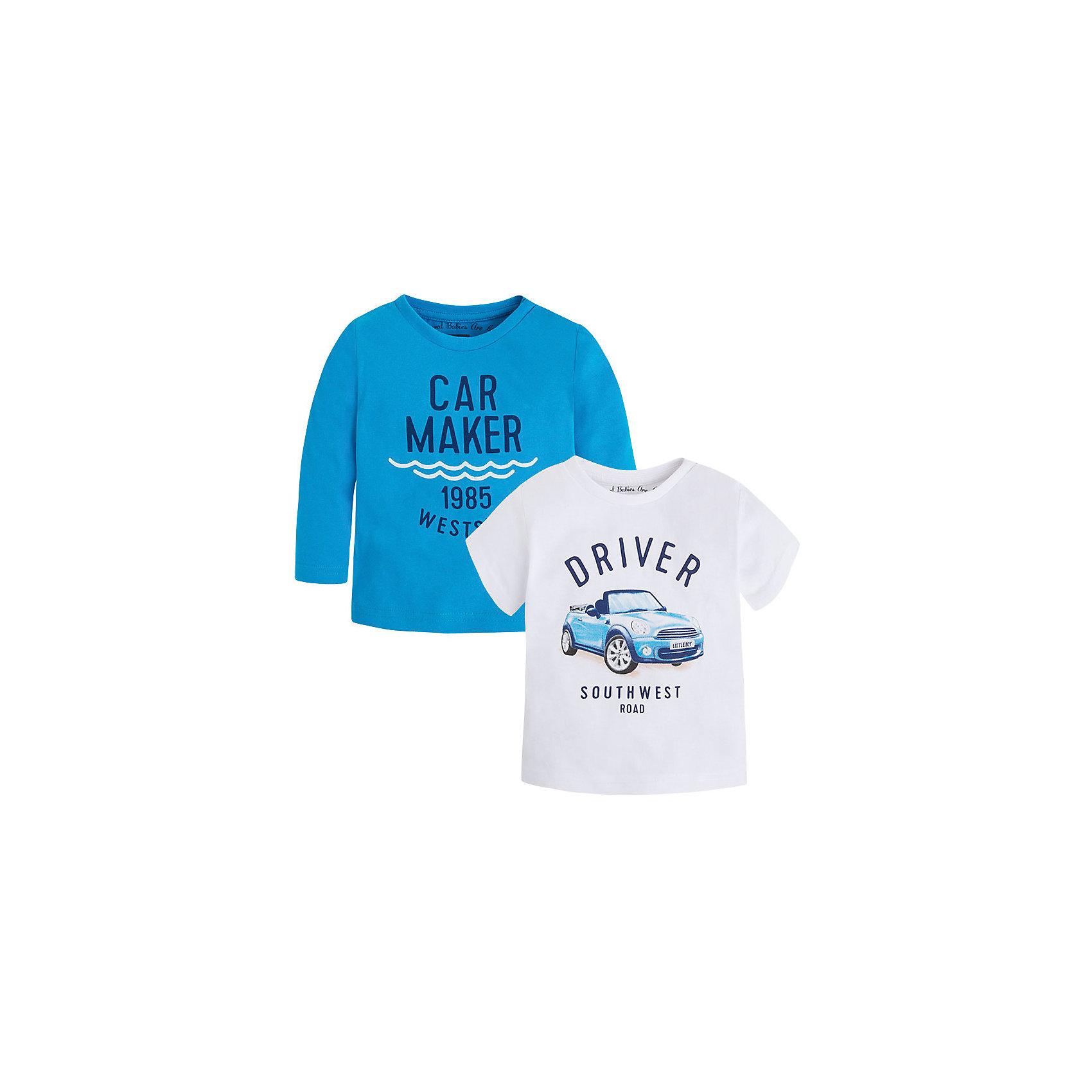 Mayoral Комплект для мальчика: футболка с длинным рукавом и футболка для мальчика Mayoral футболка с длинным рукавом для мальчика barkito большой монстр цитрусовая