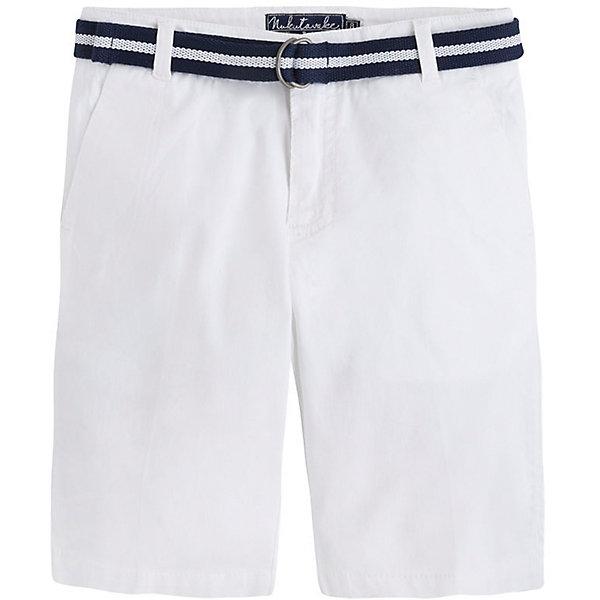 Шорты  для мальчика MayoralШорты, бриджи, капри<br>Шорты  для мальчика от известной испанской марки Mayoral - прекрасный вариант для летнего гардероба юного модника. <br><br>Дополнительная информация:<br><br>- Текстильный пояс в комплекте.<br>- Прямой крой брючин.<br>- Тип застежки: молния, кнопка. <br>- 4 кармана (2 задних, 2 боковых).<br>- Задние карманы декорированы контрастными вставками. <br>- Стильные отвороты.<br>- Регулировка на талии с помощью внутренней резинки.  <br>- Состав: 98% хлопок, 2% эластан.<br><br>Шорты  для мальчика Mayoral (Майорал) можно купить в нашем магазине.<br><br>Ширина мм: 191<br>Глубина мм: 10<br>Высота мм: 175<br>Вес г: 273<br>Цвет: белый<br>Возраст от месяцев: 132<br>Возраст до месяцев: 144<br>Пол: Мужской<br>Возраст: Детский<br>Размер: 152,128,140,164,158<br>SKU: 4538360