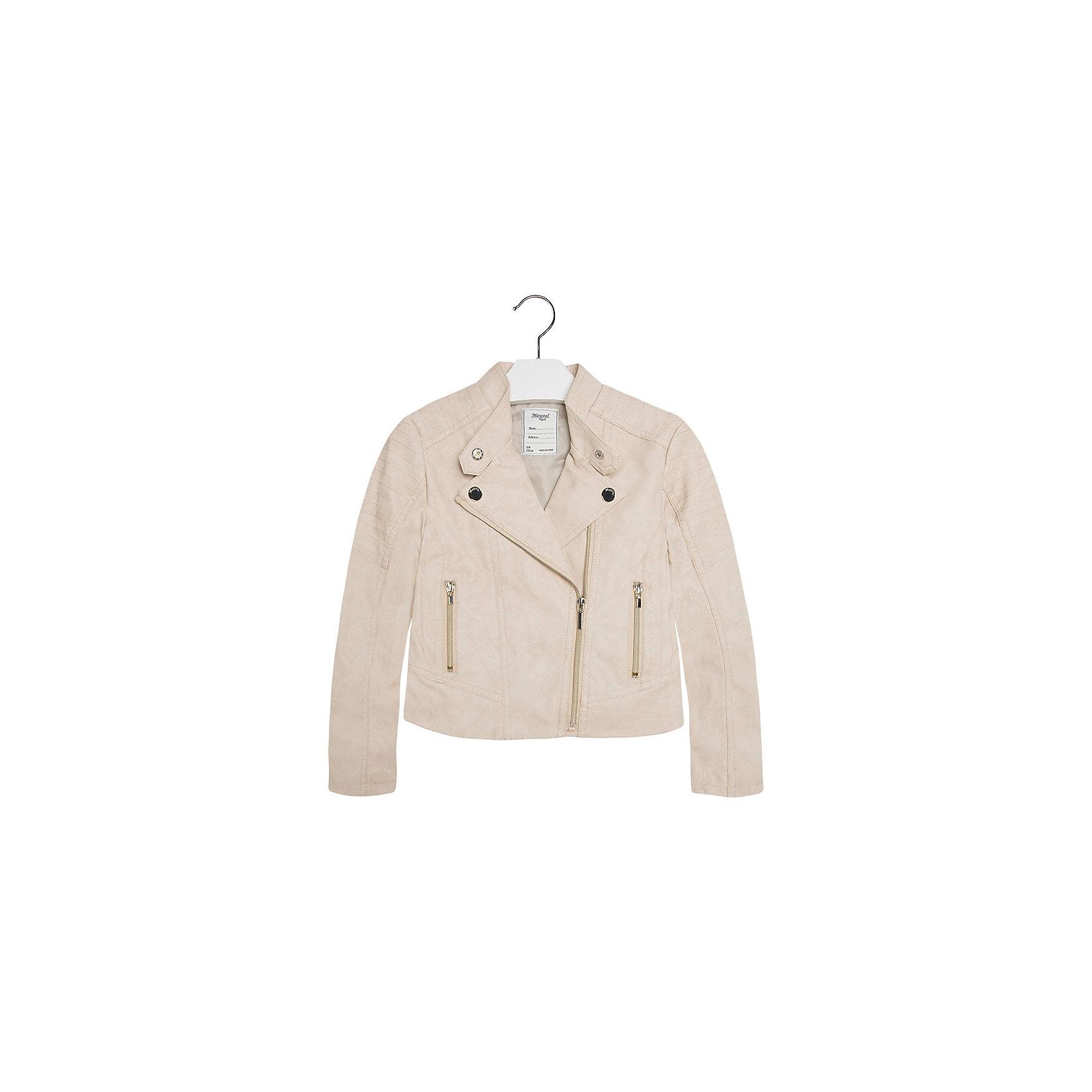 Куртка для девочки MayoralВерхняя одежда<br>Куртка для девочки от известной испанской марки Mayoral добавит образу юной модницы оригинальность и стиль. <br><br>Дополнительная информация:<br><br>- Стильный, актуальный дизайн.<br>- Застегивается на молнию.<br>- Воротник-стойка застегивается на кнопки.<br>- 2 передних кармана на молнии.<br>- Декоративная отстрочка.<br>- Декоративные складки на спине.<br>- Состав: верх - 100% полиуретан, подкладка - 100% полиэстер. <br><br>Куртку для девочки Mayoral (Майорал) можно купить в нашем магазине.<br><br>Ширина мм: 356<br>Глубина мм: 10<br>Высота мм: 245<br>Вес г: 519<br>Цвет: серый<br>Возраст от месяцев: 84<br>Возраст до месяцев: 96<br>Пол: Женский<br>Возраст: Детский<br>Размер: 128,140,152,158,170,164<br>SKU: 4538524