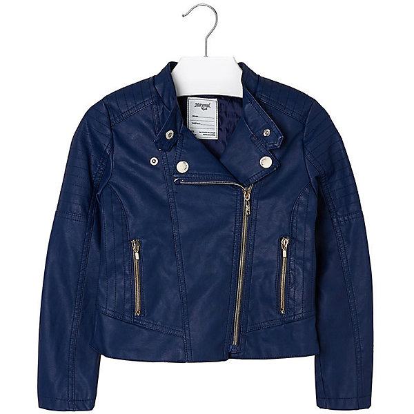 Куртка для девочки MayoralВерхняя одежда<br>Куртка для девочки от известной испанской марки Mayoral приведет в восторг любую девочку и добавит образу юной модницы оригинальность и стиль. <br><br>Дополнительная информация:<br><br>- Стильный, актуальный дизайн.<br>- Застегивается на молнию.<br>- Воротник-стойка застегивается на кнопки.<br>- 2 передних кармана на молнии.<br>- Декоративная отстрочка.<br>- Декоративные складки на спине.<br>- Состав: верх - 100% полиуретан, подкладка - 100% полиэстер. <br><br>Куртку для девочки Mayoral (Майорал) можно купить в нашем магазине.<br><br>Ширина мм: 356<br>Глубина мм: 10<br>Высота мм: 245<br>Вес г: 519<br>Цвет: синий<br>Возраст от месяцев: 84<br>Возраст до месяцев: 96<br>Пол: Женский<br>Возраст: Детский<br>Размер: 128,170,140,152,158,164<br>SKU: 4538538