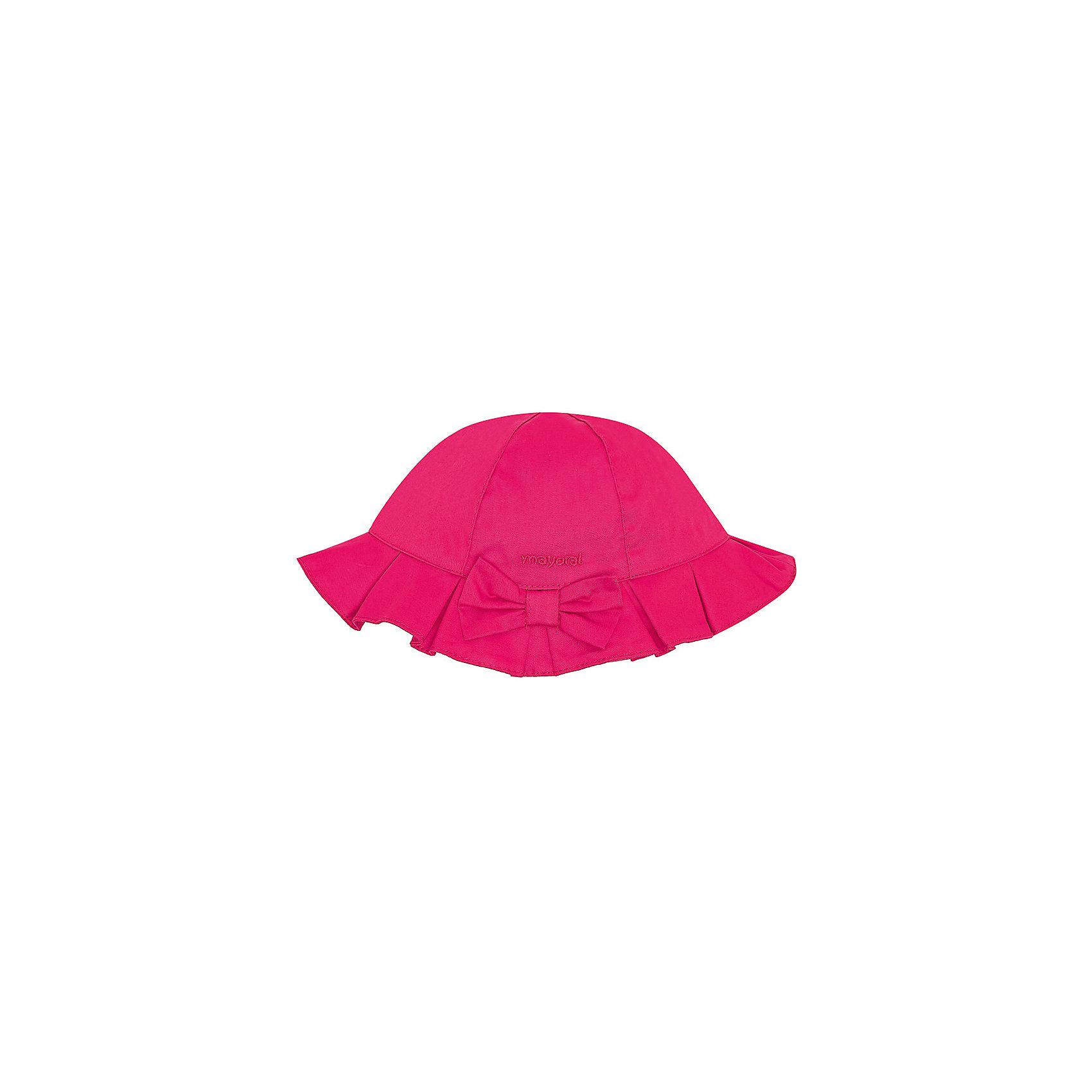 Панама для девочки MayoralШапочки<br>Панама для девочки от известной испанской марки Mayoral убережет голову ребенка от ярких солнечных лучей и  добавит образу юной модницы очарование и шарм.<br><br>Дополнительная информация:<br><br>- Декоративный бант спереди.<br>- Вышивка с логотипом бренда. <br>- Состав: верх - 100% хлопок; подкладка - 65% полиэстер, 35% хлопок. <br><br><br>Панаму для девочки Mayoral (Майорал) можно купить в нашем магазине.<br><br>Ширина мм: 89<br>Глубина мм: 117<br>Высота мм: 44<br>Вес г: 155<br>Цвет: красный<br>Возраст от месяцев: 12<br>Возраст до месяцев: 18<br>Пол: Женский<br>Возраст: Детский<br>Размер: 48,50,46<br>SKU: 4539066