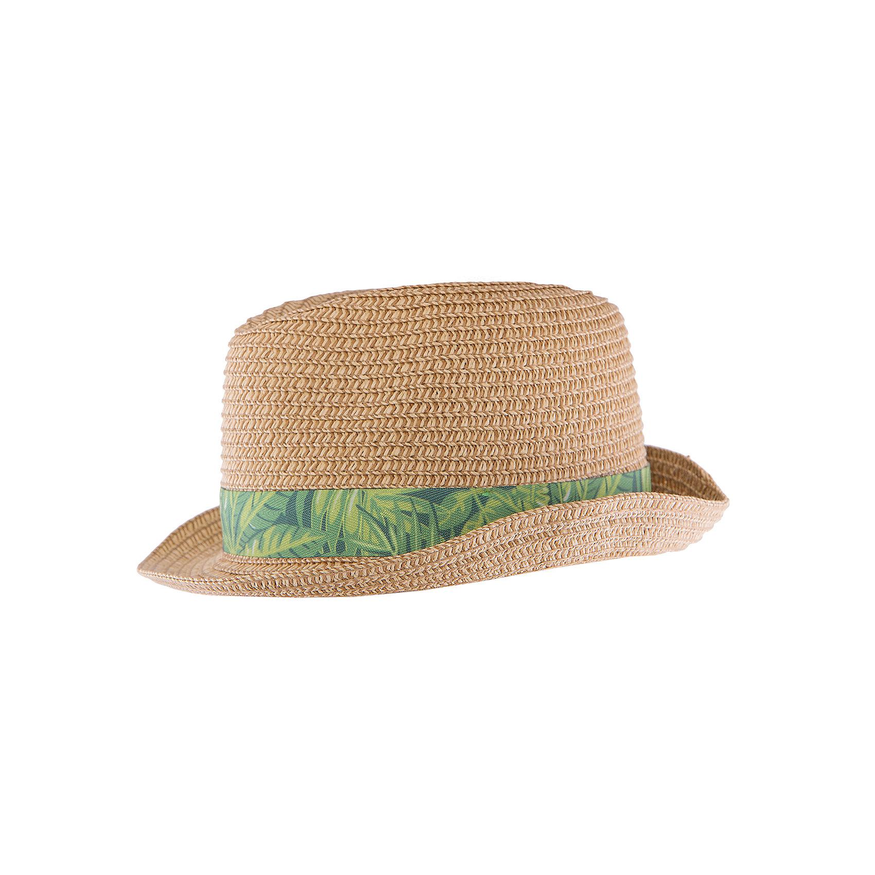 Шляпа для мальчика MayoralШляпа для мальчика от известной марки Mayoral<br><br>Удобная шляпа дополнит образ мальчика и убережет голову ребенка от перегрева в новом весенне-летнем сезоне. Эта модель разработала специально для мальчишек. Сделана она из легкого, но прочного материала, украшена яркой текстильной полоской.<br><br>Особенности модели:<br><br>- цвет: коричневый;<br>- ткань зеленая с принтом;<br>- легкий материал;<br>- классическая форма;<br>- глубокая посадка.<br><br>Дополнительная информация:<br><br>Состав: 100% бумага<br> <br>Шапку для мальчика от Mayoral (Майорал) можно купить в нашем магазине.<br><br>Ширина мм: 89<br>Глубина мм: 117<br>Высота мм: 44<br>Вес г: 155<br>Цвет: бежевый<br>Возраст от месяцев: 72<br>Возраст до месяцев: 84<br>Пол: Мужской<br>Возраст: Детский<br>Размер: 54,50,52<br>SKU: 4539203