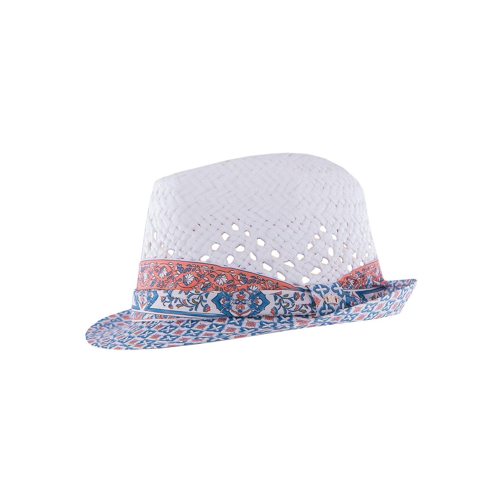 Шляпа для девочки MayoralШляпа для девочки от известной марки Mayoral<br><br>Удобная шляпа дополнит образ девочки и убережет голову от перегрева в новом весенне-летнем сезоне. Эта модель разработала специально для девочек. Сделана она из легкого, но прочного материала, украшена текстилем и принтом.<br><br>Особенности модели:<br><br>- цвет: белый, голубой;<br>- украшена принтом;<br>- легкий материал;<br>- классическая форма;<br>- декорирована текстильной повязкой;<br>- глубокая посадка.<br><br>Дополнительная информация:<br><br>Состав: 50% бумага, 50% полиэстер<br> <br>Шляпу для девочки от Mayoral (Майорал) можно купить в нашем магазине.<br><br>Ширина мм: 89<br>Глубина мм: 117<br>Высота мм: 44<br>Вес г: 155<br>Цвет: оранжевый<br>Возраст от месяцев: 72<br>Возраст до месяцев: 96<br>Пол: Женский<br>Возраст: Детский<br>Размер: 56,54,58<br>SKU: 4539299