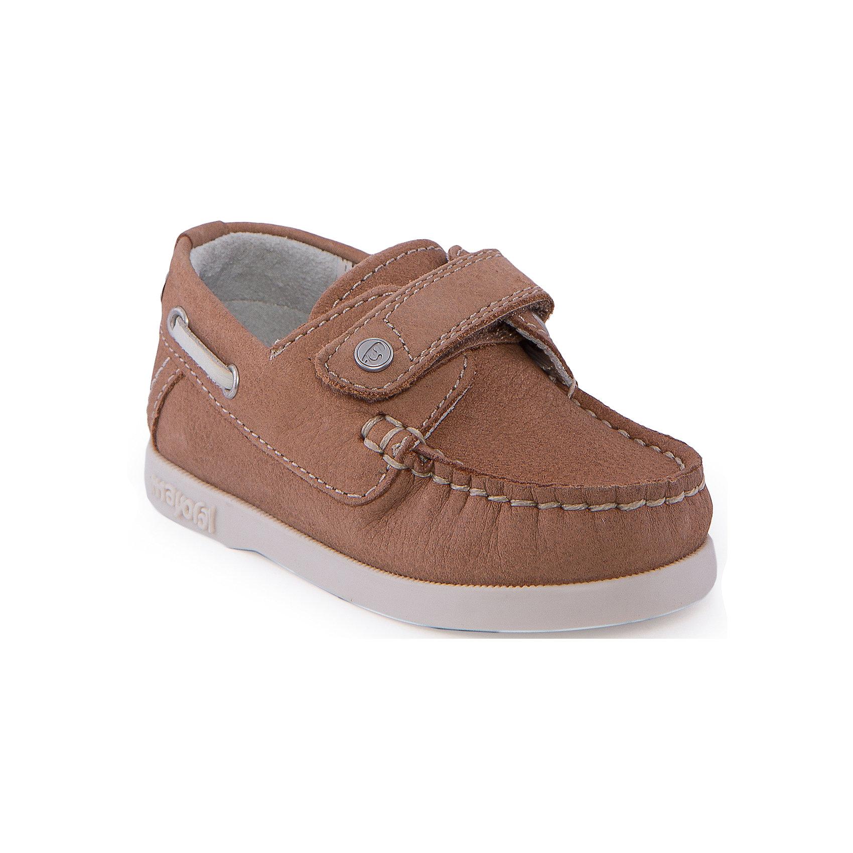 Мокасины для мальчика MayoralМокасины<br>Туфли для мальчика от известной марки Mayoral<br><br>Красивые удобные туфли дополнят образ ребенка в новом весенне-летнем сезоне. Эта модель разработала специально для детей - они комфортные, легко надеваются, отлично выглядят. Сделаны они из легкого, но прочного материала. Комфортно садятся по ноге и не натирают.<br><br>Особенности модели:<br><br>- цвет: бежевый;<br>- плоская нескользящая подошва;<br>- материал - бычья кожа;<br>- застежка-липучка;<br>- декорированы контрастным шнурком;<br>- качественная прошивка.<br><br>Дополнительная информация:<br><br>Состав: верх - натуральная кожа;<br>стелька - натуральная кожа;<br>подошва - полиуретан.<br><br>Кеды от Mayoral (Майорал) можно купить в нашем магазине.<br><br>Ширина мм: 250<br>Глубина мм: 150<br>Высота мм: 150<br>Вес г: 250<br>Цвет: коричневый<br>Возраст от месяцев: 15<br>Возраст до месяцев: 18<br>Пол: Мужской<br>Возраст: Детский<br>Размер: 22,20,25,24,23,21<br>SKU: 4539460