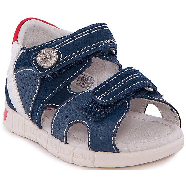 Сандалии MayoralСандалии<br>Сандалии от известной испанской марки Mayoral - прекрасный вариант для жаркой погоды или же сменной обуви. <br><br>Дополнительная информация:<br><br>- Способствуют правильному формированию стопы.<br>- Отверстия для вентиляции. <br>- Стелька с супинатором. <br>- Рифленая антискользящая подошва. <br>- Высокий усиленный задник.<br>- Застегиваются на липучки. <br>- Яркие кожаные вставки.<br>- Декорированы металлической кнопкой. <br>- Состав: материал верха - 62 % натуральная кожа, 31 % полиуретан, 7 % полиэстер; подкладка, стелька - 100% кожа; подошва - 100% полиуретан.<br><br>Сандалии Mayoral (Майорал) можно купить в нашем магазине.<br>Ширина мм: 219; Глубина мм: 154; Высота мм: 121; Вес г: 343; Цвет: синий; Возраст от месяцев: 18; Возраст до месяцев: 21; Пол: Унисекс; Возраст: Детский; Размер: 23,20,21,26,24,27,25,22; SKU: 4539612;