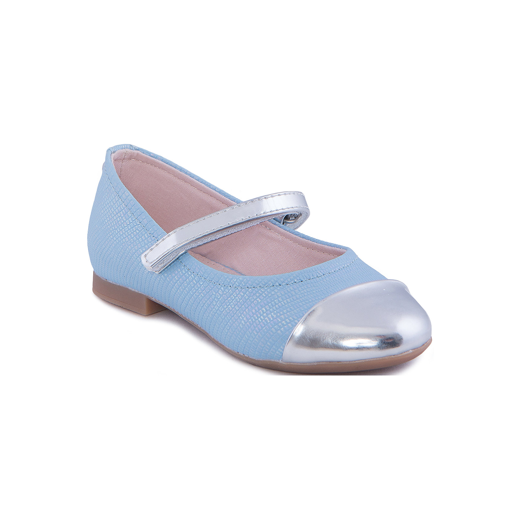 Туфли для девочки  MayoralОбувь<br>Стильные туфли от известной испанской марки Mayoral приведут в восторг всех юных модниц! <br><br>Дополнительная информация:<br><br>- Стильный дизайн. <br>- Небольшой каблук.<br>- Застегиваются на липучку.<br>- Вставки и серебряной кожи на ремешке и носу. <br>- Состав: материал верха - 100% полиуретан; подкладка, стелька - 70% хлопок, 18% кожа, 12% - полиуретан ; подошва - 100% полиуретан.<br><br>Туфли Mayoral (Майорал) можно купить в нашем магазине.<br><br>Ширина мм: 227<br>Глубина мм: 145<br>Высота мм: 124<br>Вес г: 325<br>Цвет: голубой<br>Возраст от месяцев: 36<br>Возраст до месяцев: 48<br>Пол: Женский<br>Возраст: Детский<br>Размер: 27,26,32,31,30,29,28<br>SKU: 4539797