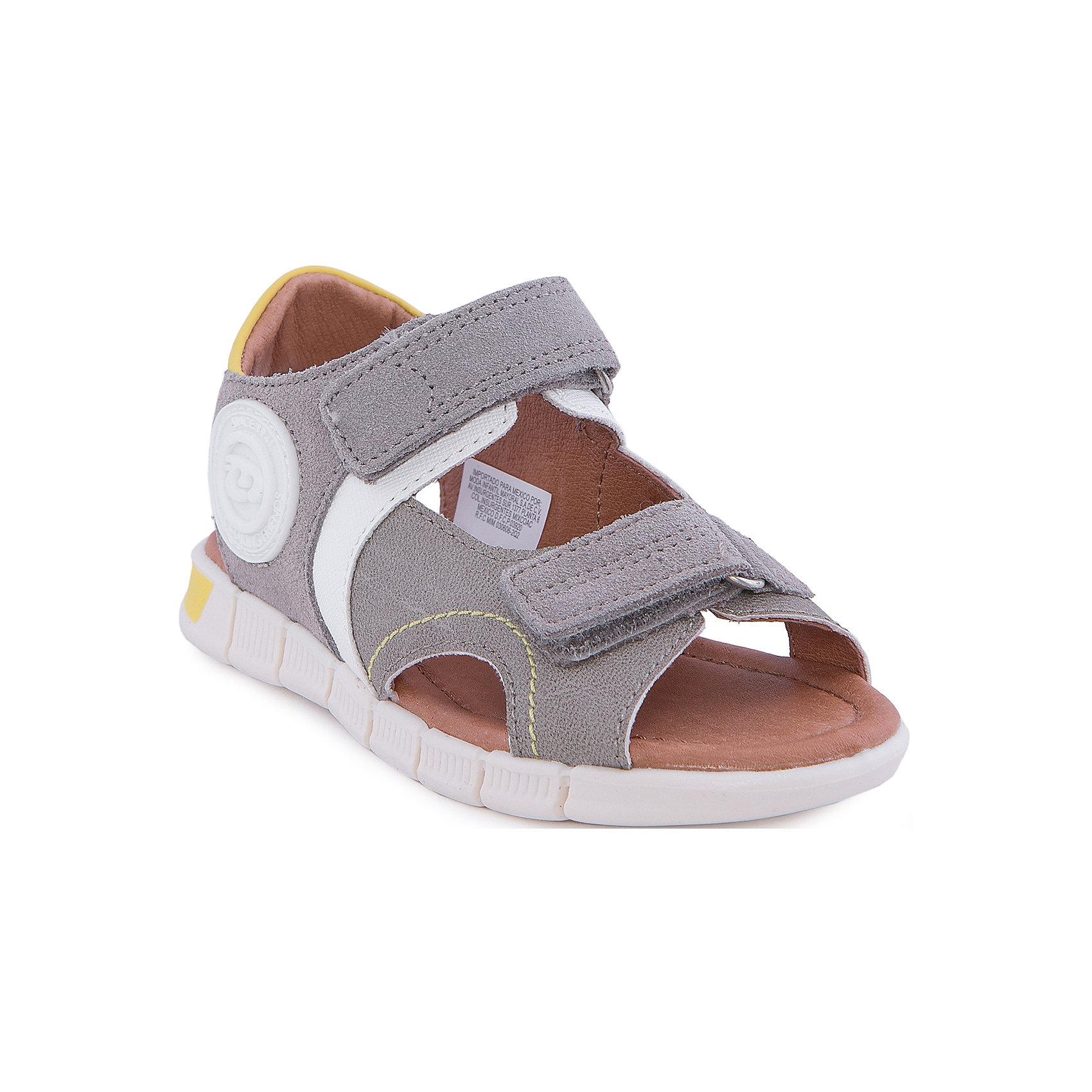 Сандалии MayoralСандалии от известной испанской марки Mayoral - прекрасный вариант для жаркой погоды или же сменной обуви. <br><br>Дополнительная информация:<br><br>- Рифленая антискользящая подошва. <br>- Застегиваются на липучки. <br>- Яркие кожаные вставки.<br>- Декоративная прострочка.<br>- Состав: материал верха - 50 % натуральная кожа, 41 % полиуретан, 9% полиэстер; подкладка, стелька - 100% кожа; подошва - 100% полиуретан.<br><br>Сандалии Mayoral (Майорал) можно купить в нашем магазине.<br><br>Ширина мм: 219<br>Глубина мм: 154<br>Высота мм: 121<br>Вес г: 343<br>Цвет: серый<br>Возраст от месяцев: 60<br>Возраст до месяцев: 72<br>Пол: Унисекс<br>Возраст: Детский<br>Размер: 29,31,30,32,28,27,26<br>SKU: 4540212