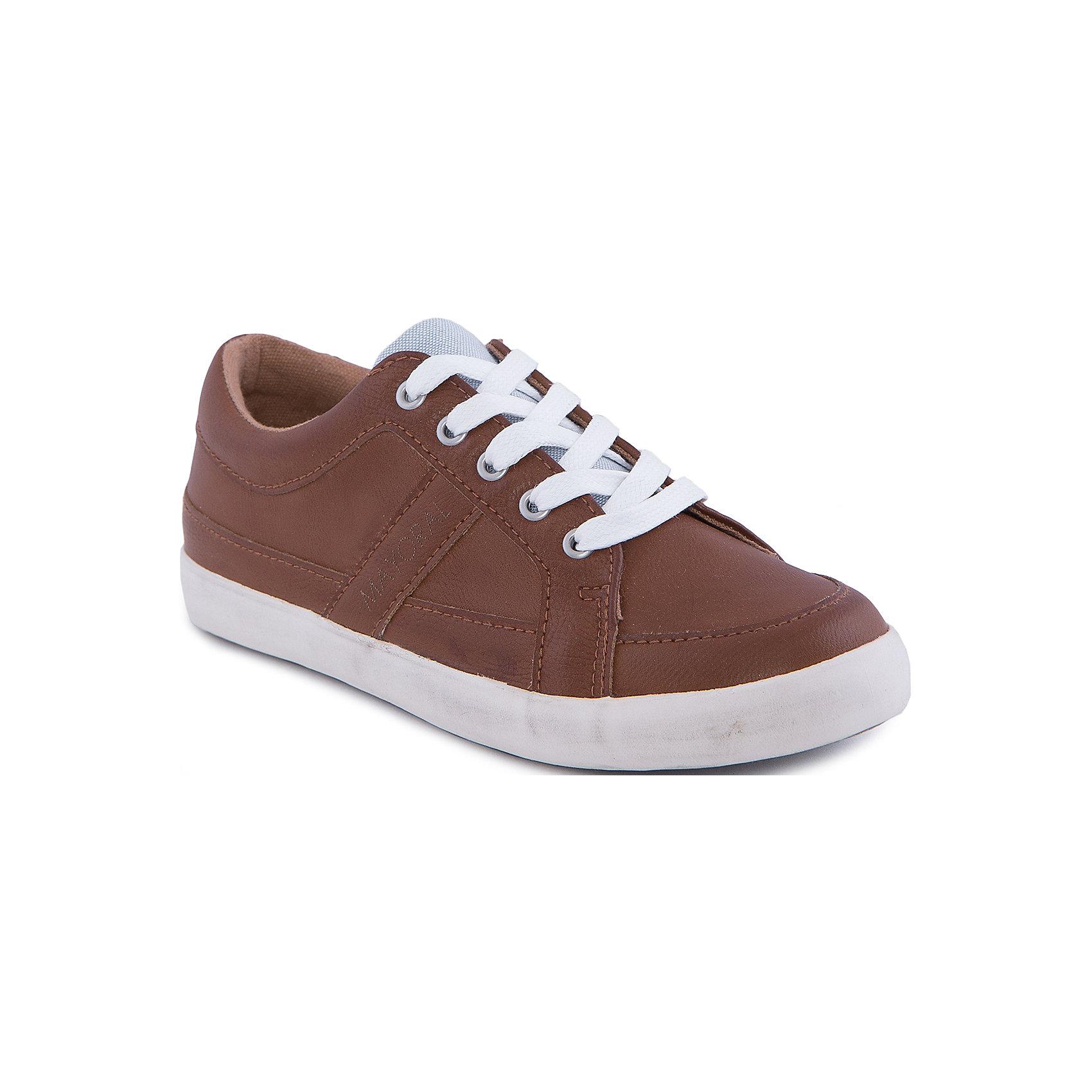 Ботинки MayoralБотинки от известной испанской марки Mayoral -  удобный и практичный вариант для повседневной носки.<br><br>Дополнительная информация:<br><br>- Рифленая подошва. <br>- На шнурках.<br>- Подкладка из мягкого хлопка. <br>- Состав: материал верха - 100% полиуретан; подкладка, стелька - 100 % хлопок; подошва - синтетический материал. <br><br>Ботинки Mayoral (Майорал) можно купить в нашем магазине.<br><br>Ширина мм: 262<br>Глубина мм: 176<br>Высота мм: 97<br>Вес г: 427<br>Цвет: коричневый<br>Возраст от месяцев: 156<br>Возраст до месяцев: 168<br>Пол: Унисекс<br>Возраст: Детский<br>Размер: 37,34,38,36,35,33,32,31<br>SKU: 4540499
