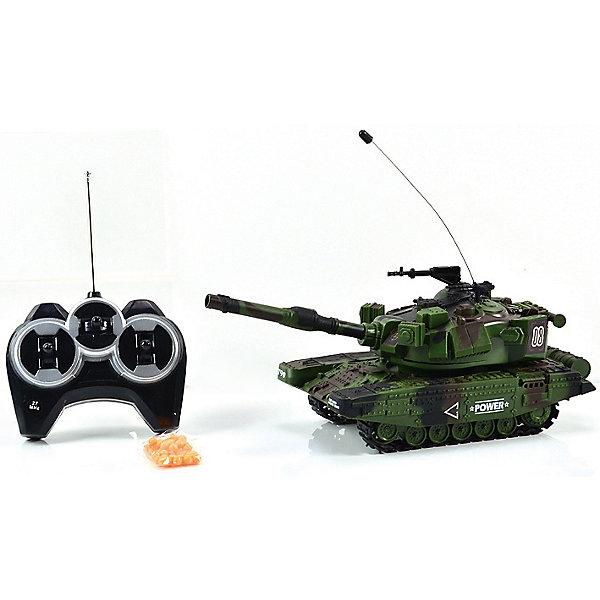 Танк МТ-90, стреляет пульками, со звуком, на радиоуправлении, Mioshi ArmyВоенный транспорт<br>Танк МТ-90 на радиоуправлении, Mioshi Army, порадует всех юных любителей военной техники. Игрушка является уменьшенной точной копией настоящего танка с тщательной проработкой всех деталей. Танк управляется с помощью пульта радиоуправления, может двигаться во всех направлениях, поворачивать башню на 360 градусов, пушка поднимается и опускается. Танк стреляет пластиковыми шариками на большое расстояние, при этом каждый выстрел сопровождается реалистичным звуком. Во время передвижения слышен характерный звук движущегося танка, имеются световые эффекты. Питание осуществляется от аккумулятора (входит в комплекте поставки вместе с зарядным устройством). Игрушка выполнена из качественного и прочного материала, упакована в яркую подарочную коробку. Высокое качество и надежность обеспечивают танку Mioshi Army долгий срок эксплуатации.<br><br>Дополнительная информация:<br><br>- В комплекте: танк, пульт дистанционного управления, шарики 6 мм., инструкция.<br>- Требуются батарейки: 6 х AA. Батарейки в комплект не входят.<br>- Материал: пластик.<br>- Размер танка: 27 см.<br>- Размер: 38 х 15 х 14 см.<br>- Вес: 0,6 кг.<br><br>Танк МТ-90, стреляет пульками, со звуком, на радиоуправлении, Mioshi Army, можно купить в нашем интернет-магазине.<br>Ширина мм: 380; Глубина мм: 140; Высота мм: 150; Вес г: 600; Возраст от месяцев: 36; Возраст до месяцев: 72; Пол: Мужской; Возраст: Детский; SKU: 4540563;