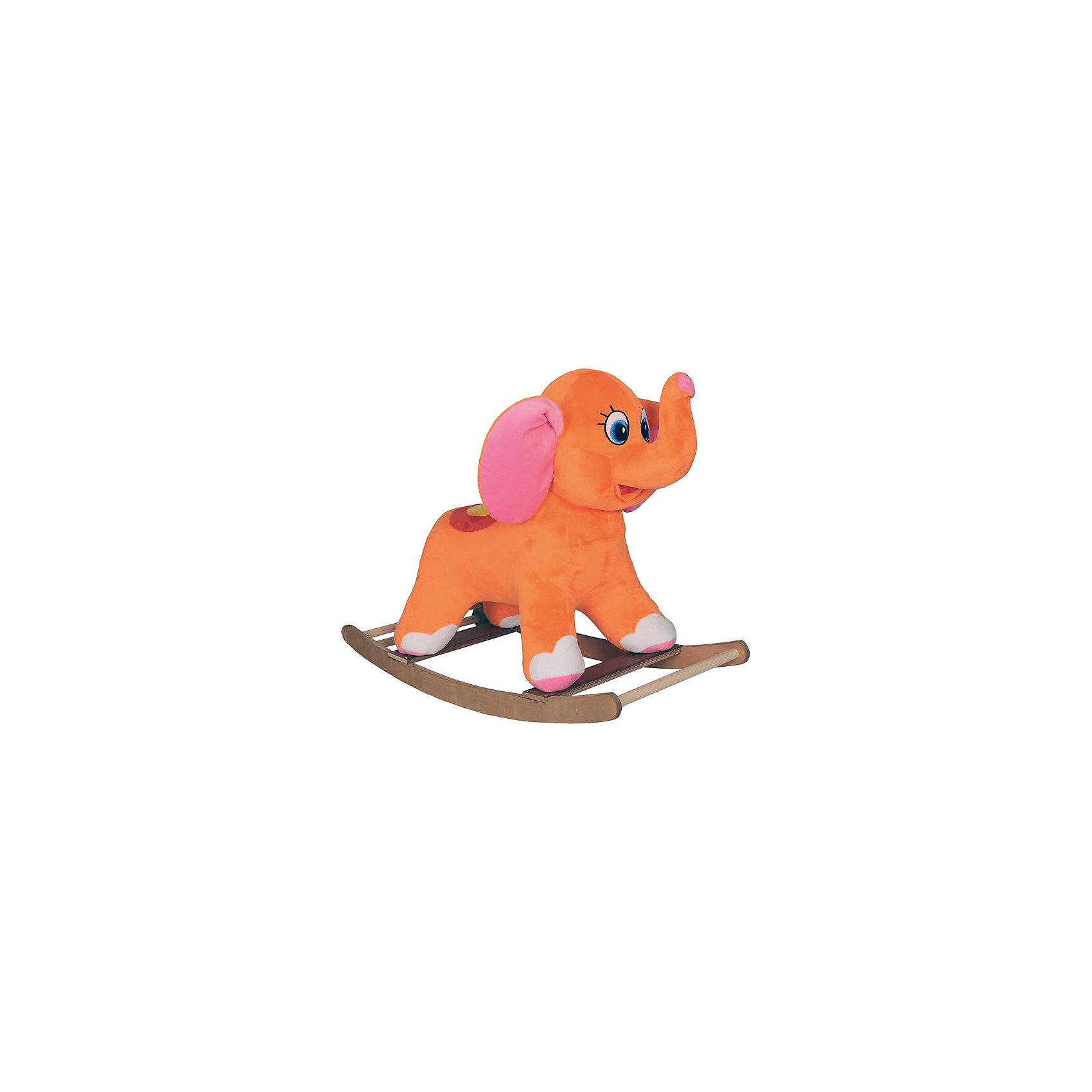 Слоник-качалка оранжевый, СмолТойсСимпатичный слоник-качалка, СмолТойс, не оставит равнодушным Вашего малыша. Слоник выполнен из мягкого плюша, его оранжевая бархатистая шерстка очень приятна на ощупь. У игрушки имеются удобное седло и ручки, за которые малыш будет держаться во время игры. К ногам слоника крепятся деревянные полозья, которые обеспечивают мягкое и плавное качание. Слоник изготовлен из качественных гипоаллергенных материалов, безопасных для детского здоровья. Игрушка способствует развитию воображения, тактильной чувствительности и координации. <br><br>Дополнительная информация:<br><br>- Материал: дерево, плюш, текстиль.<br>- Размеры лошадки: длина - 60 см., ширина - 51 см., высота - 58 см. <br>- Вес: 3,5 кг.<br><br>Слоника-качалку, оранжевый, СмолТойс, можно купить в нашем интернет-магазине.<br><br>Ширина мм: 600<br>Глубина мм: 510<br>Высота мм: 580<br>Вес г: 3500<br>Возраст от месяцев: 36<br>Возраст до месяцев: 69600<br>Пол: Унисекс<br>Возраст: Детский<br>SKU: 4540577